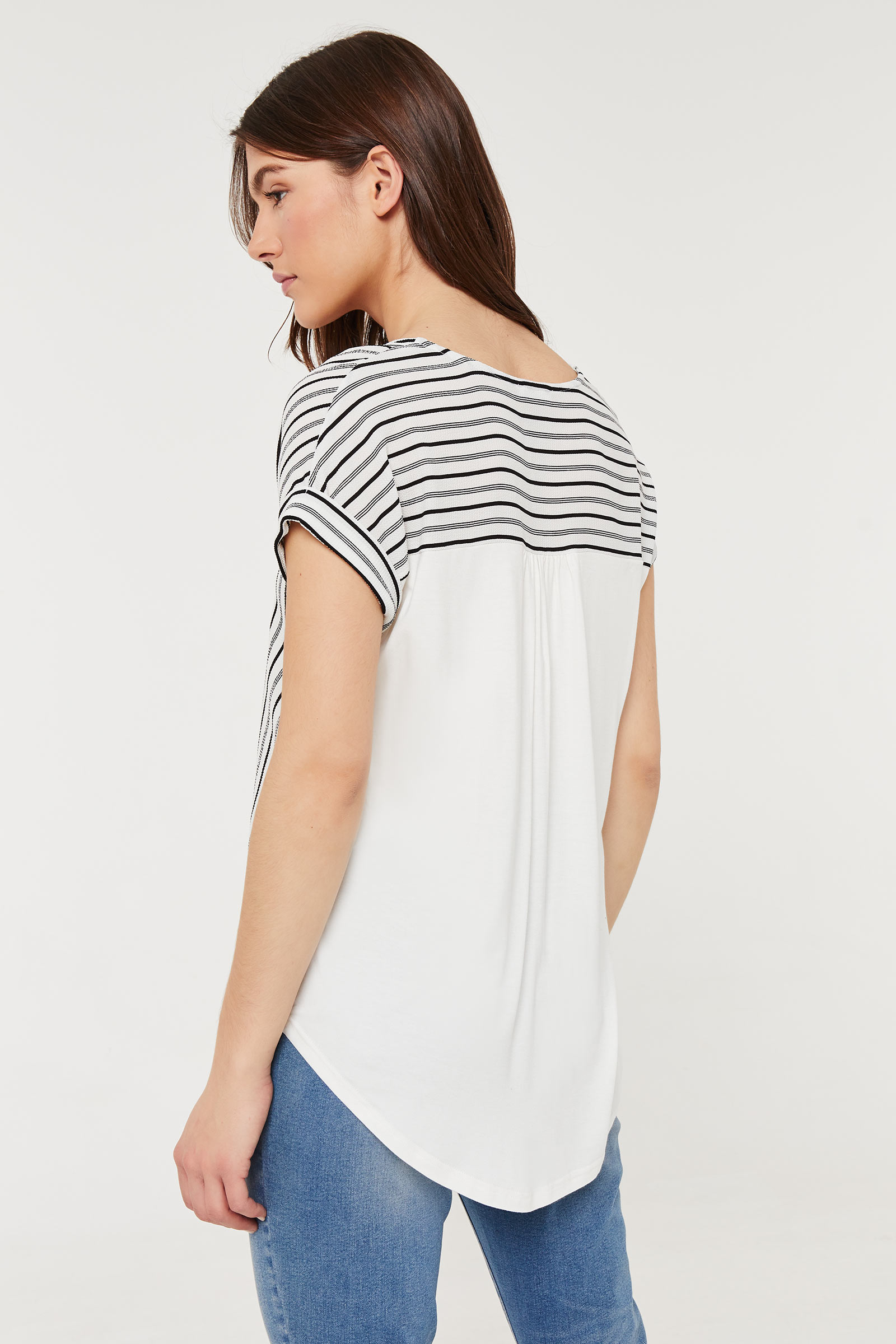 Striped Knotted Blouse