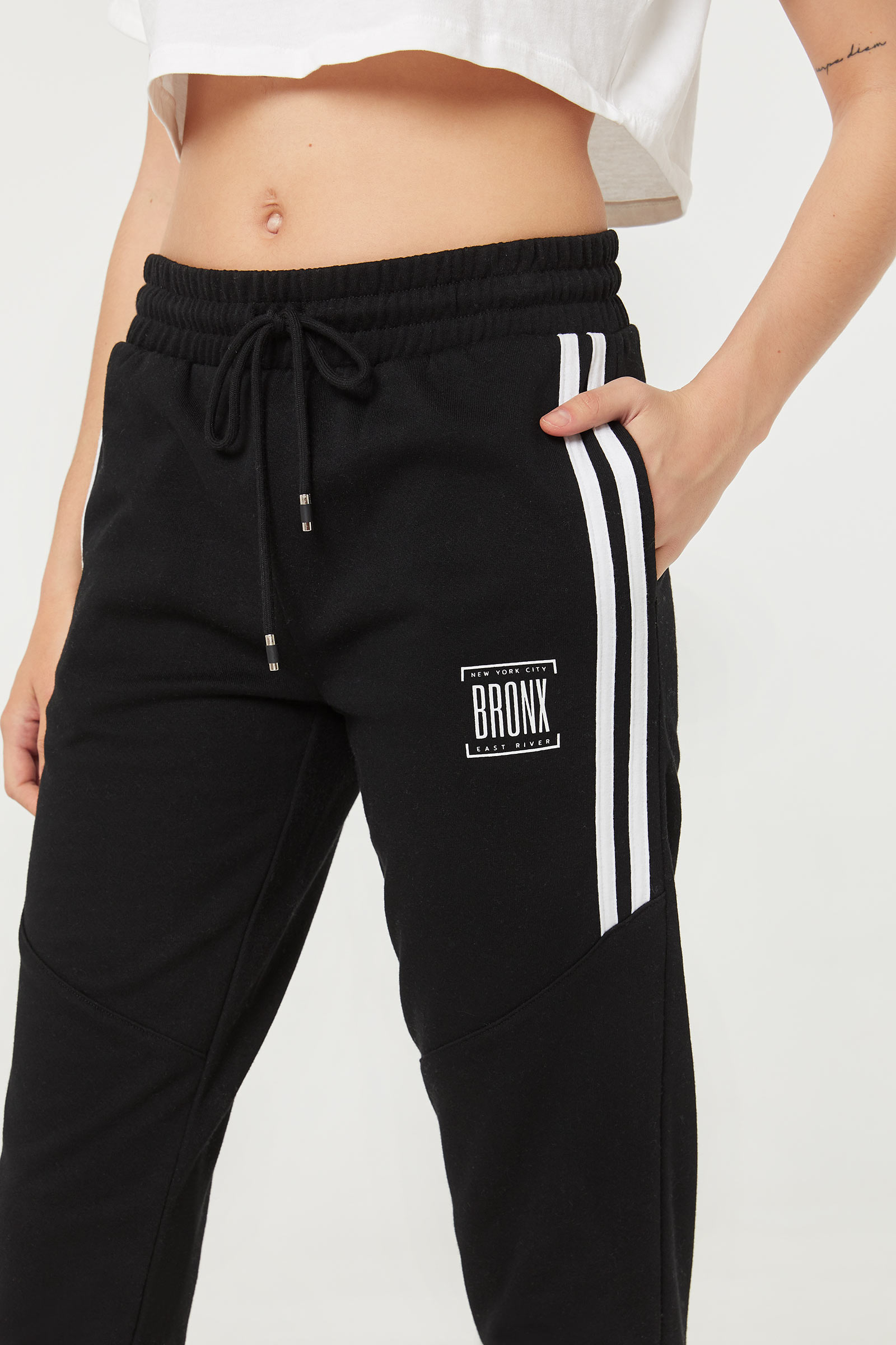 Joggers with Contrasting Stripes