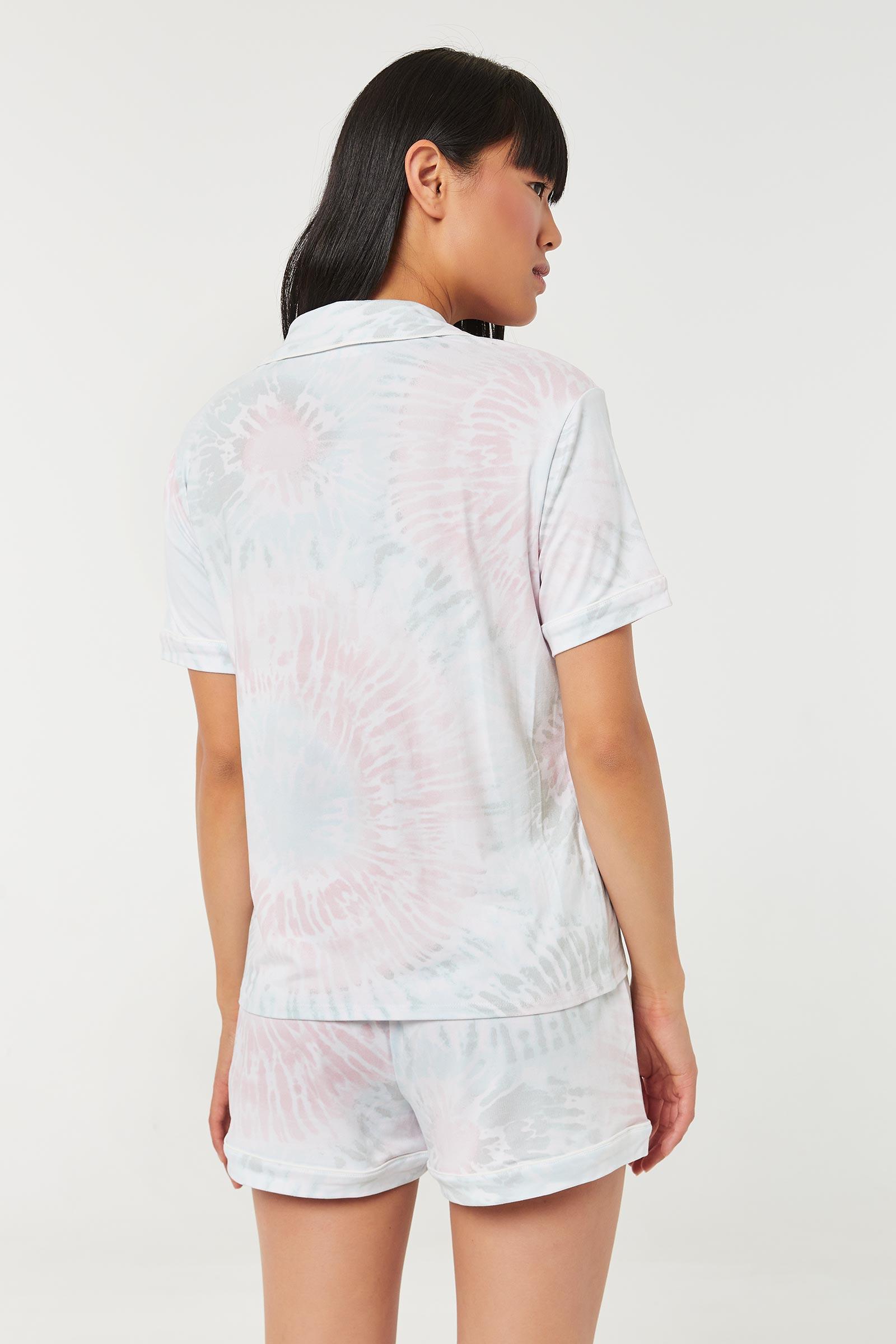 Tie-Dye PJ Set with Contrast Binding