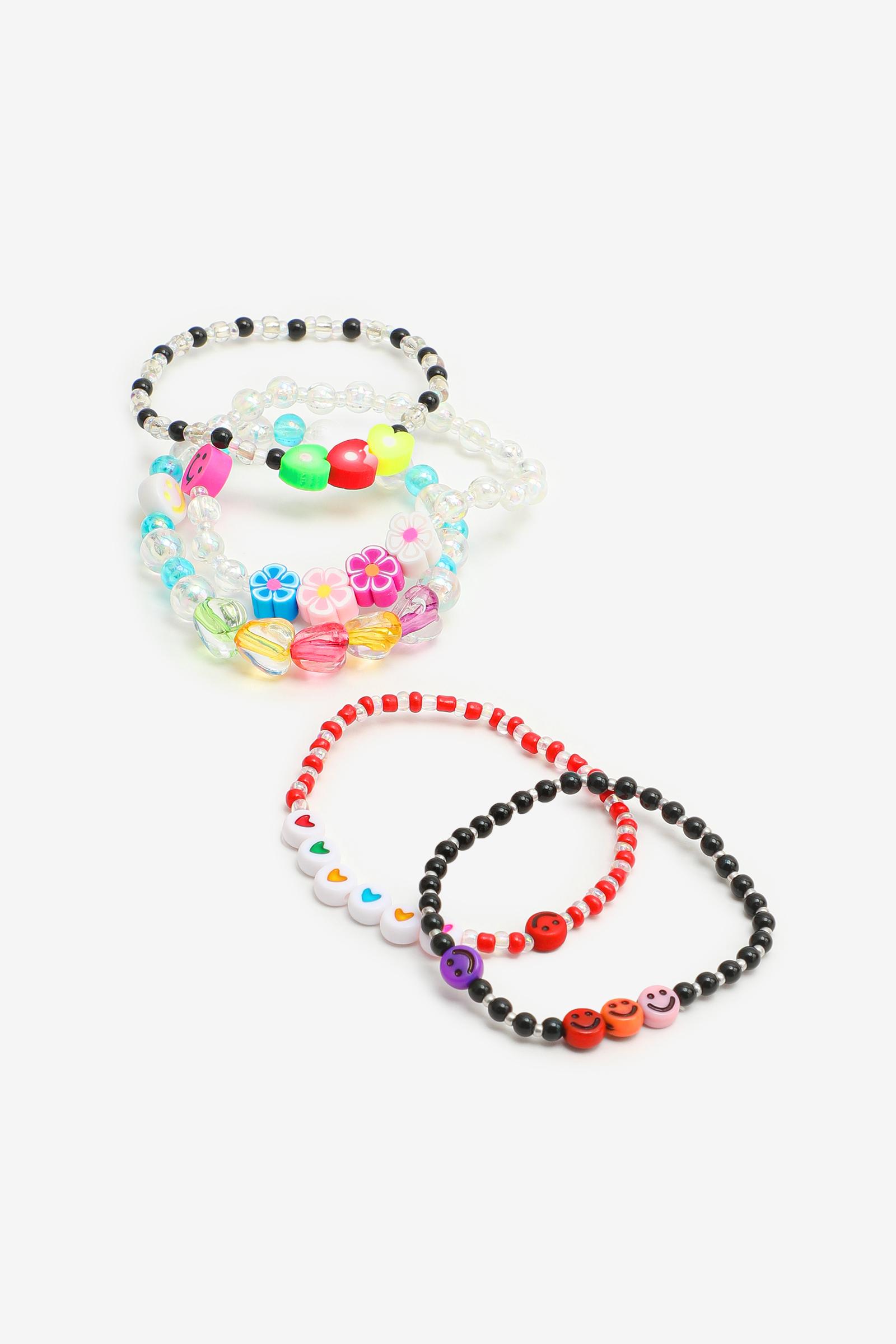 5-Pack Multicoloured Beaded Bracelets