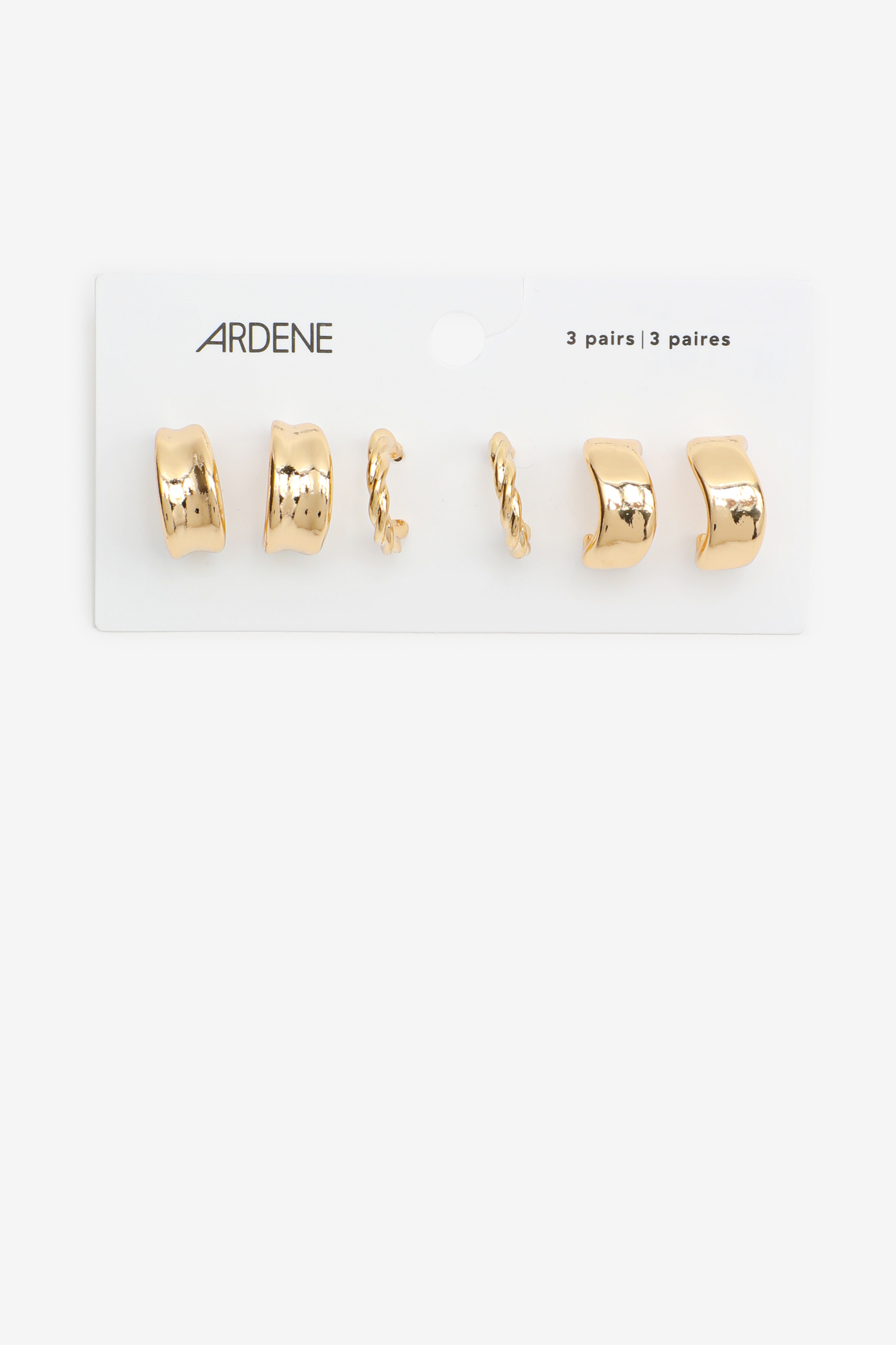 3 Paires d'anneaux épaisses