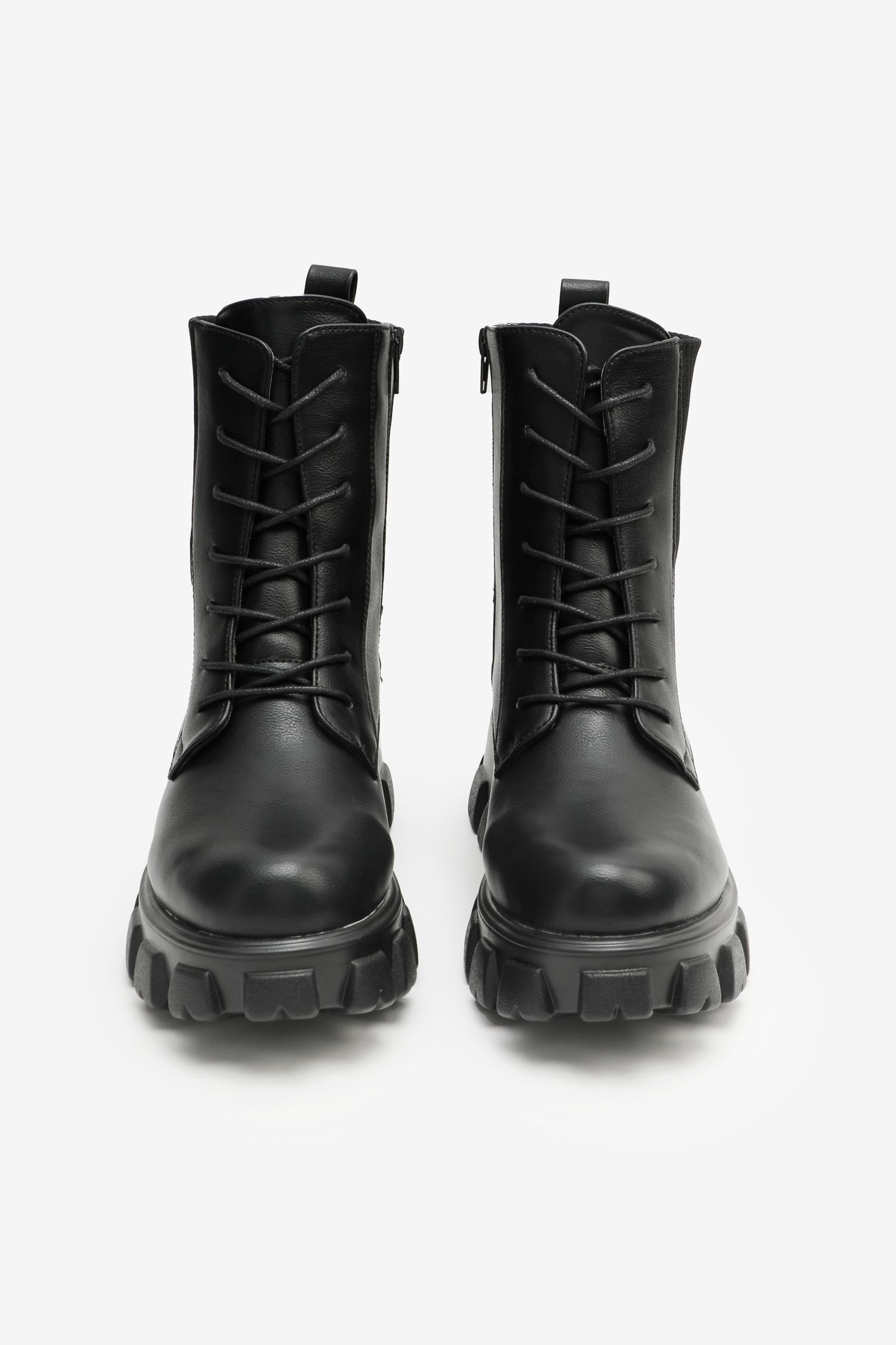 Chunky Track Sole Ankle Boots