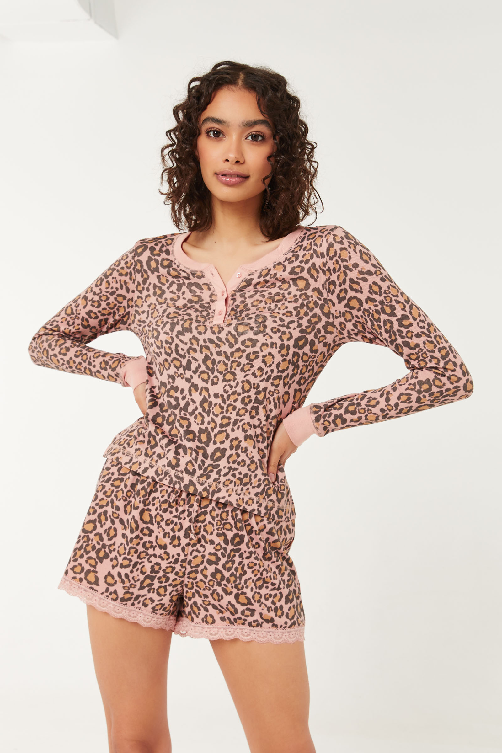 Leopard Deluxe Lounge shorts