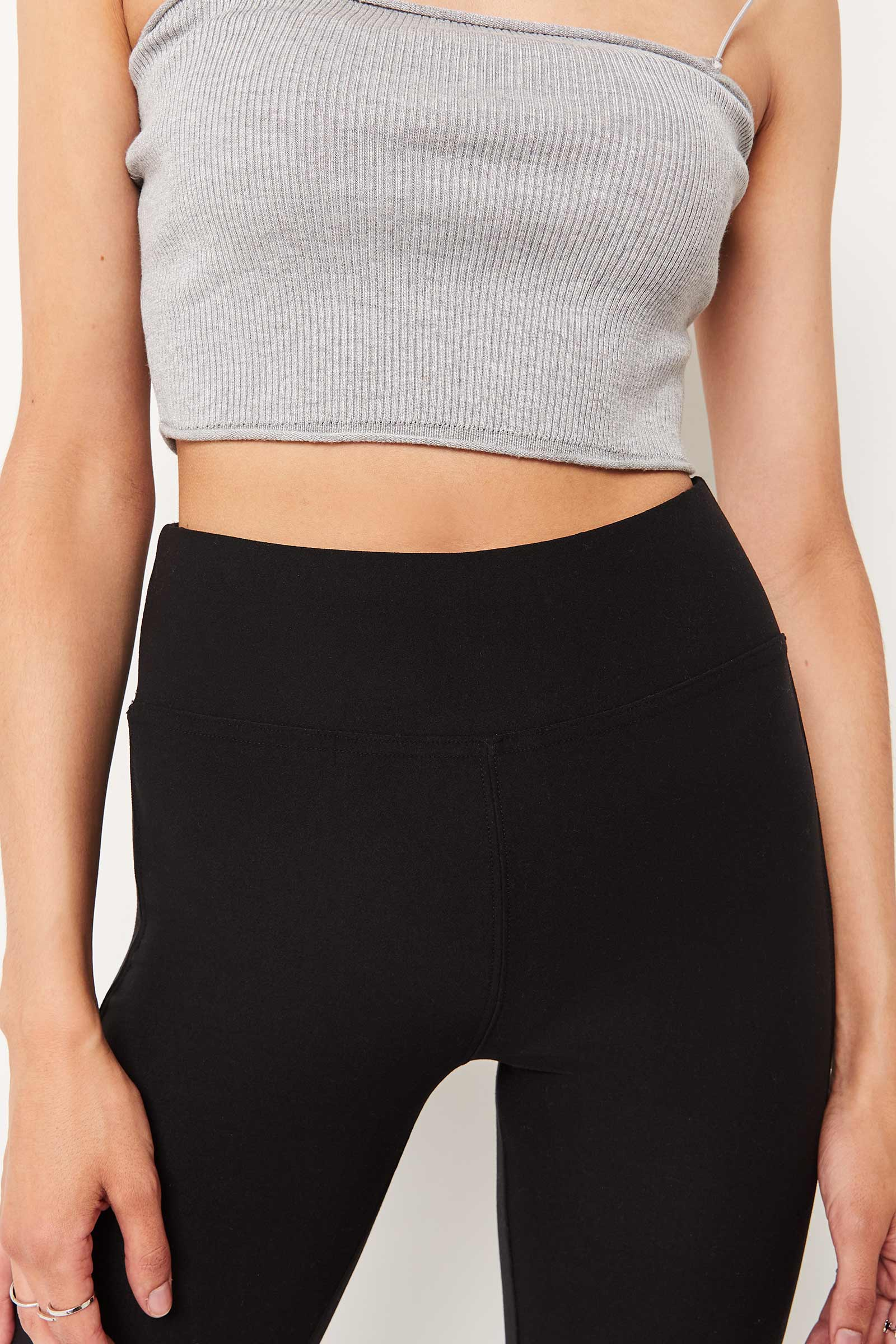 Leggings with Ribbed Inserts