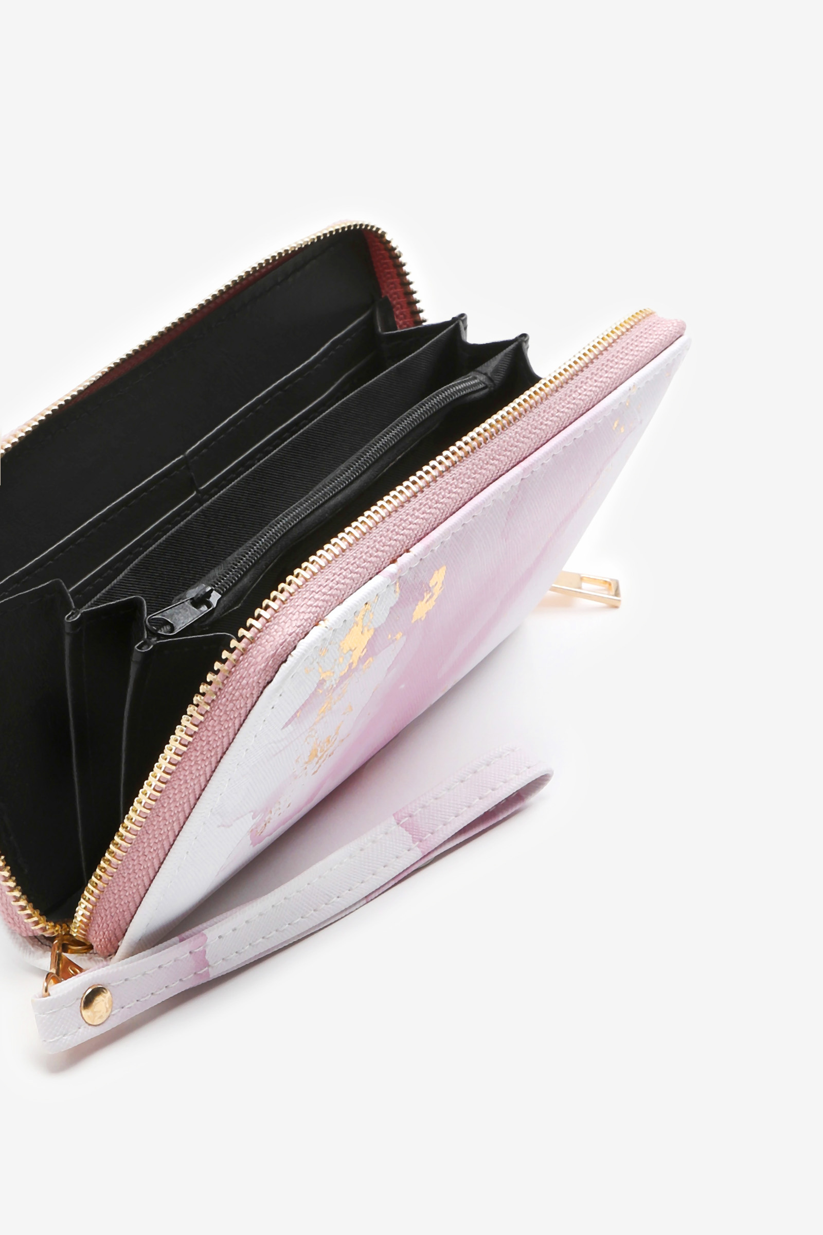 Blush Marble Wallet with Gold Foil