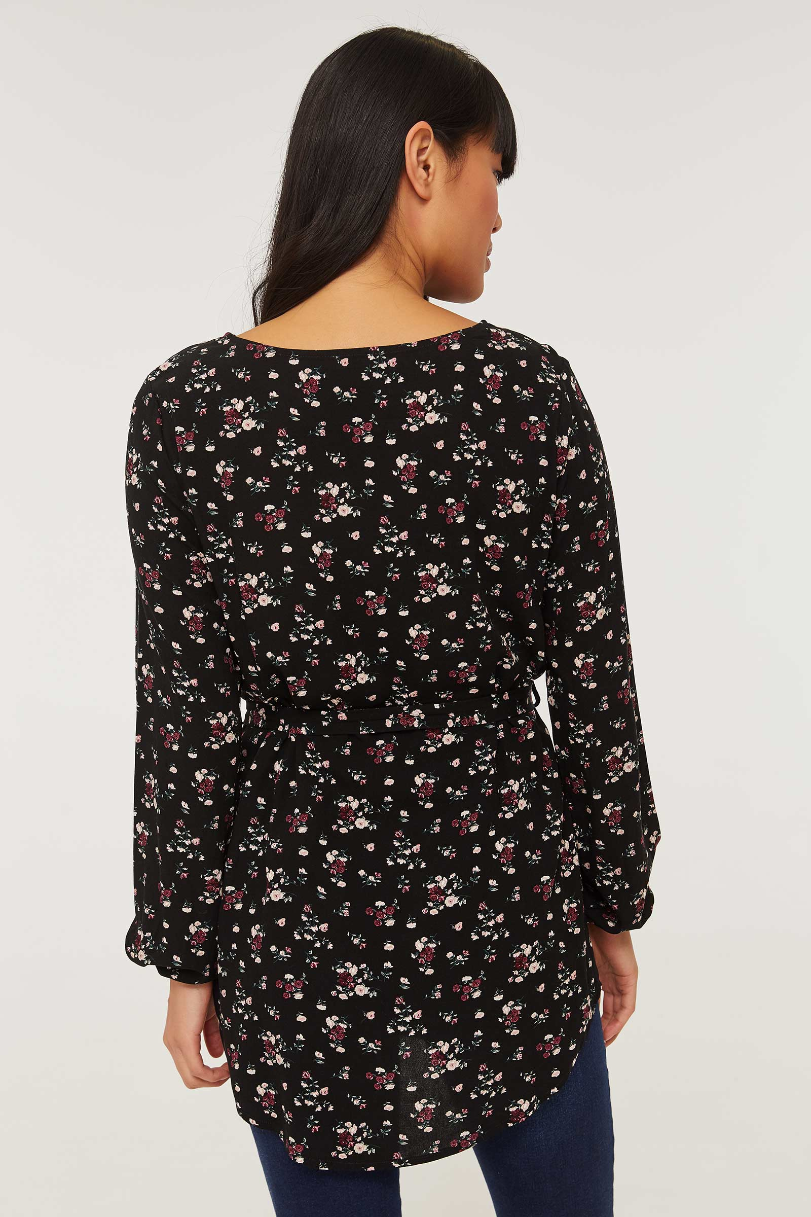 Light Floral Tunic with Tie