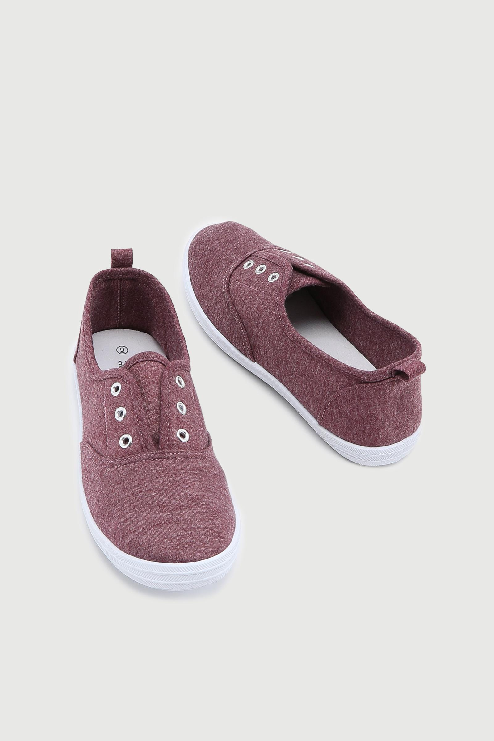 Eyeleted Slip-On Sneakers