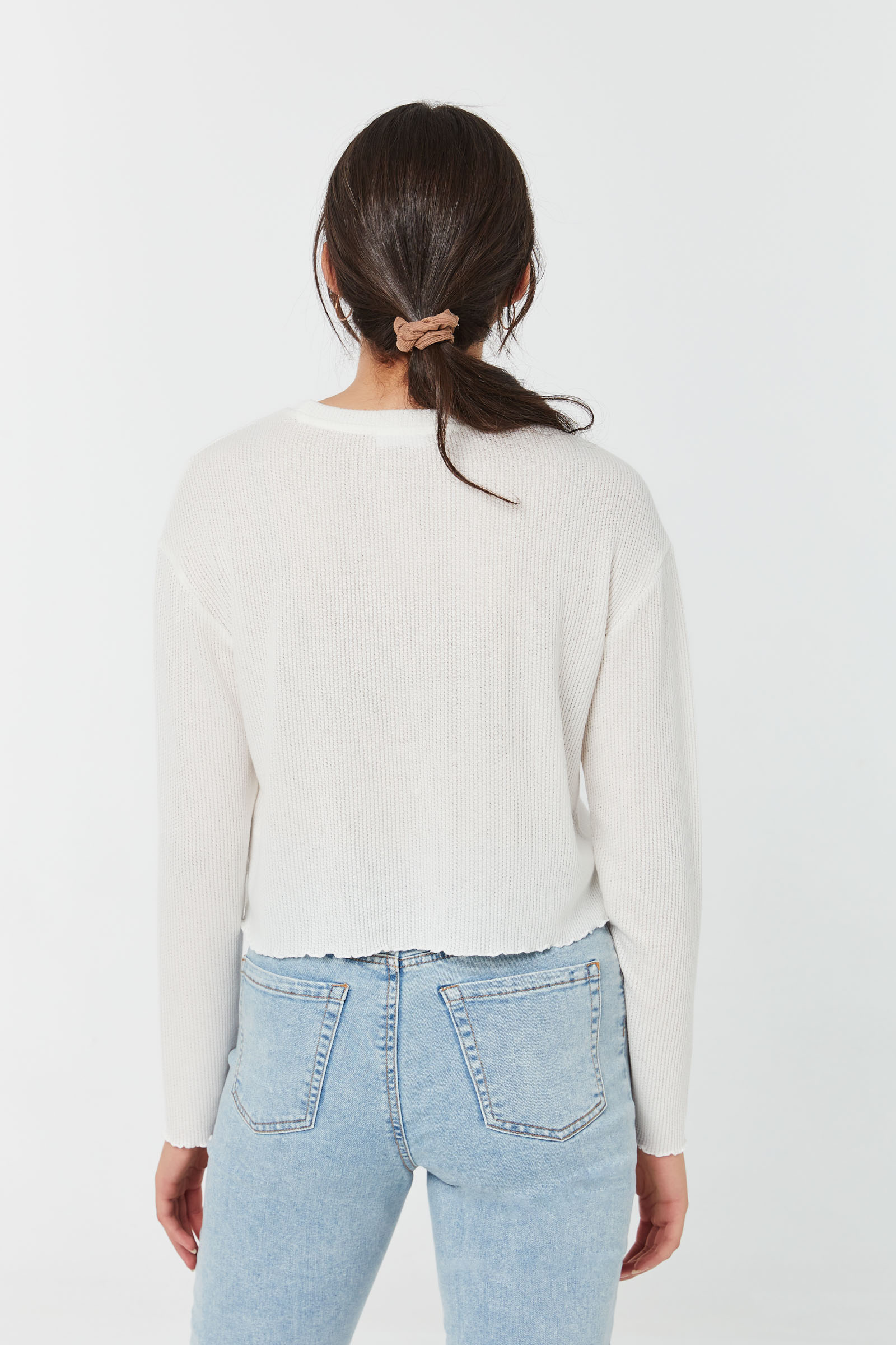 Textured Cropped Boxy Tee