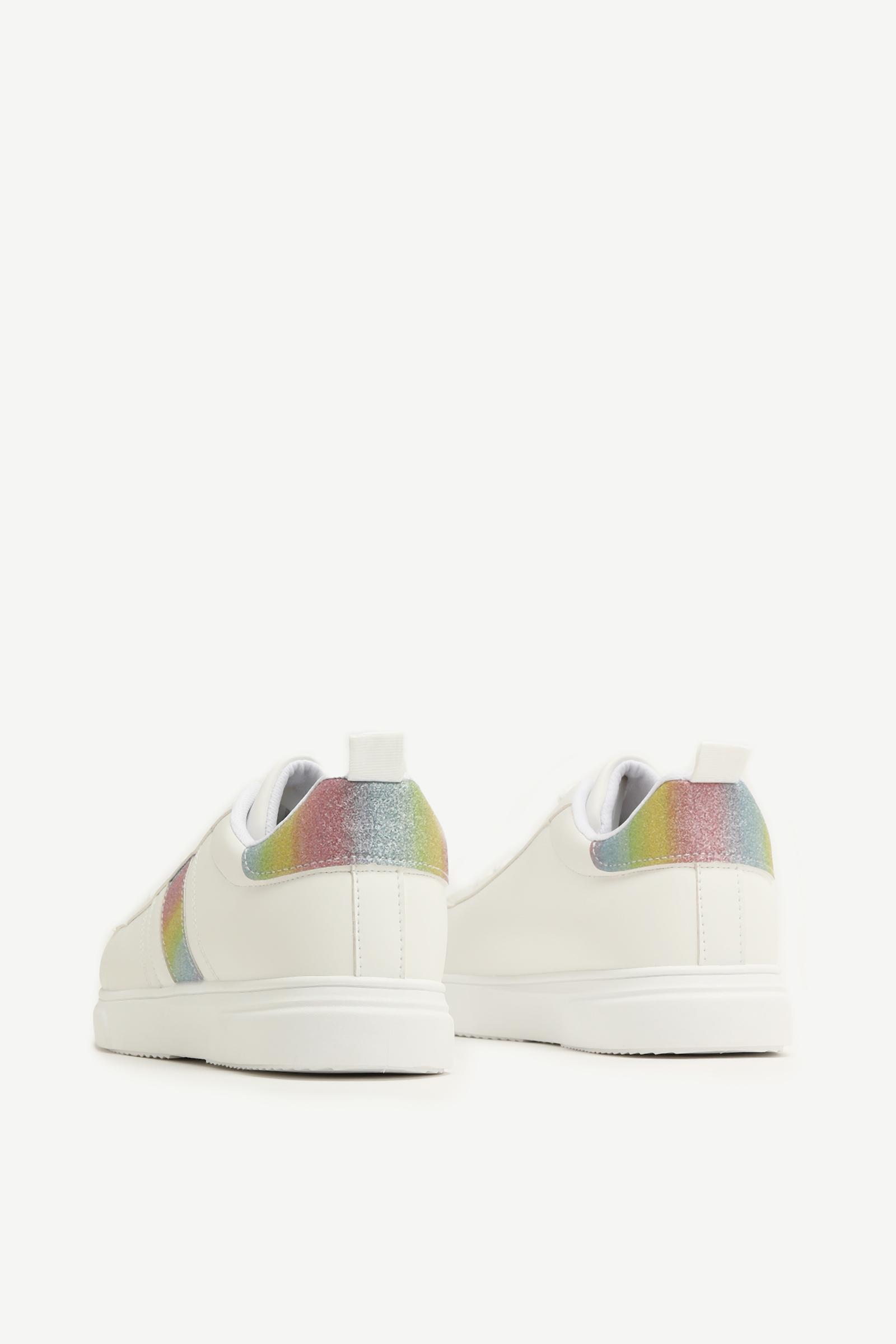 Glitter Trim Sneakers