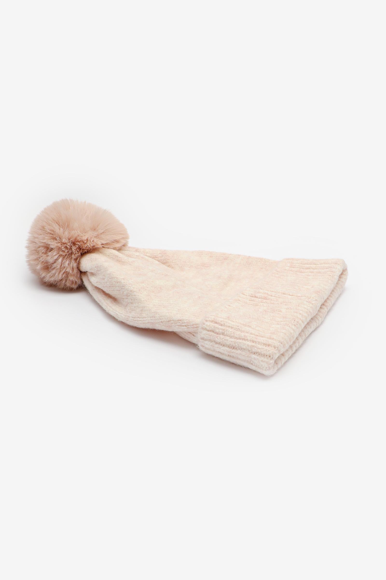 Tuque à pompon en doux tricot