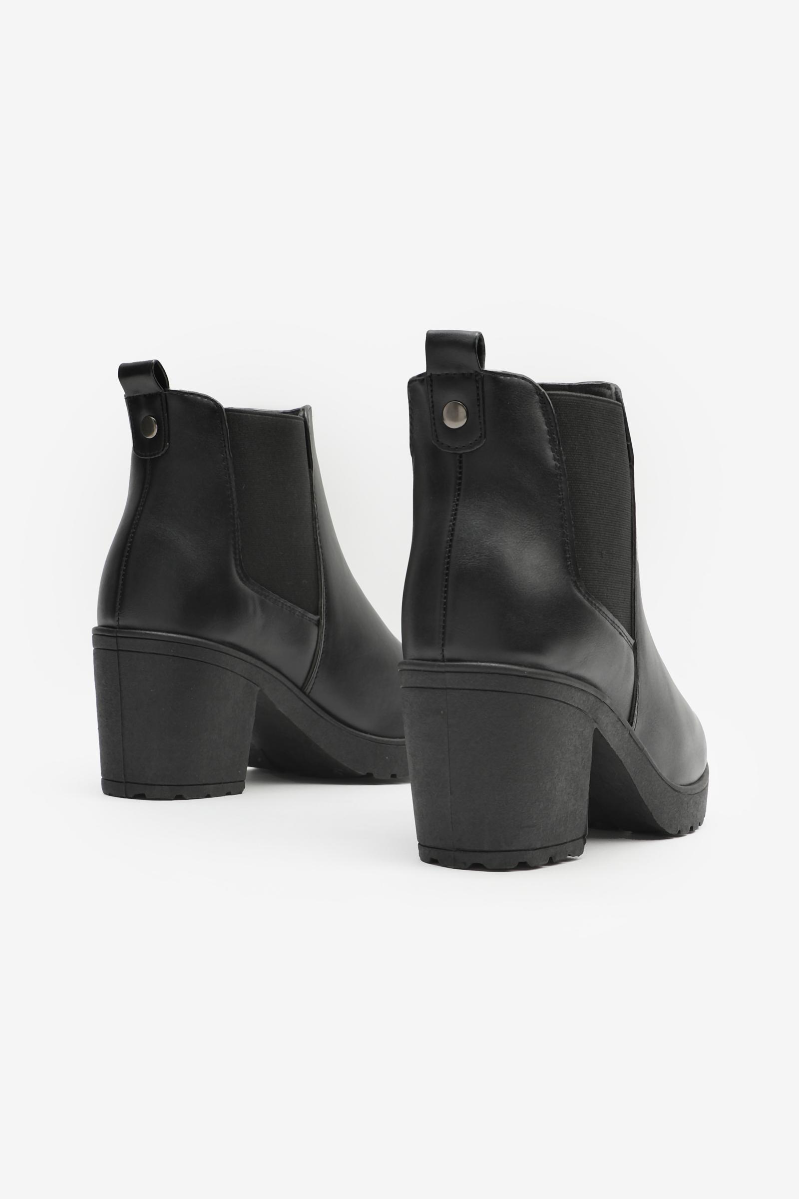 Chelsea Booties With Log Heel
