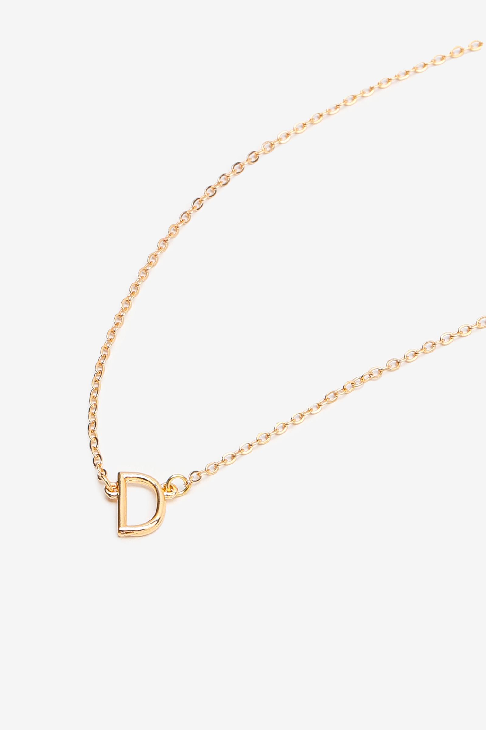 Collier à lettre D