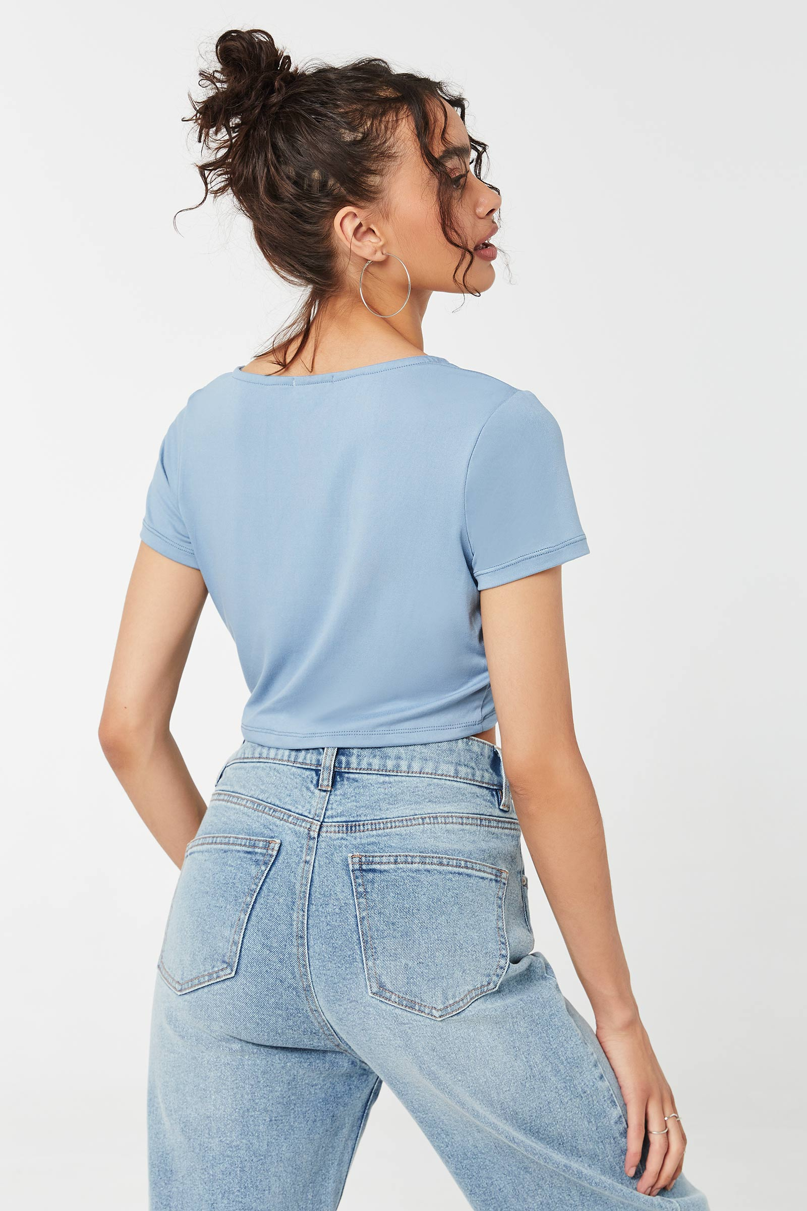 Lattice Front Cropped Top