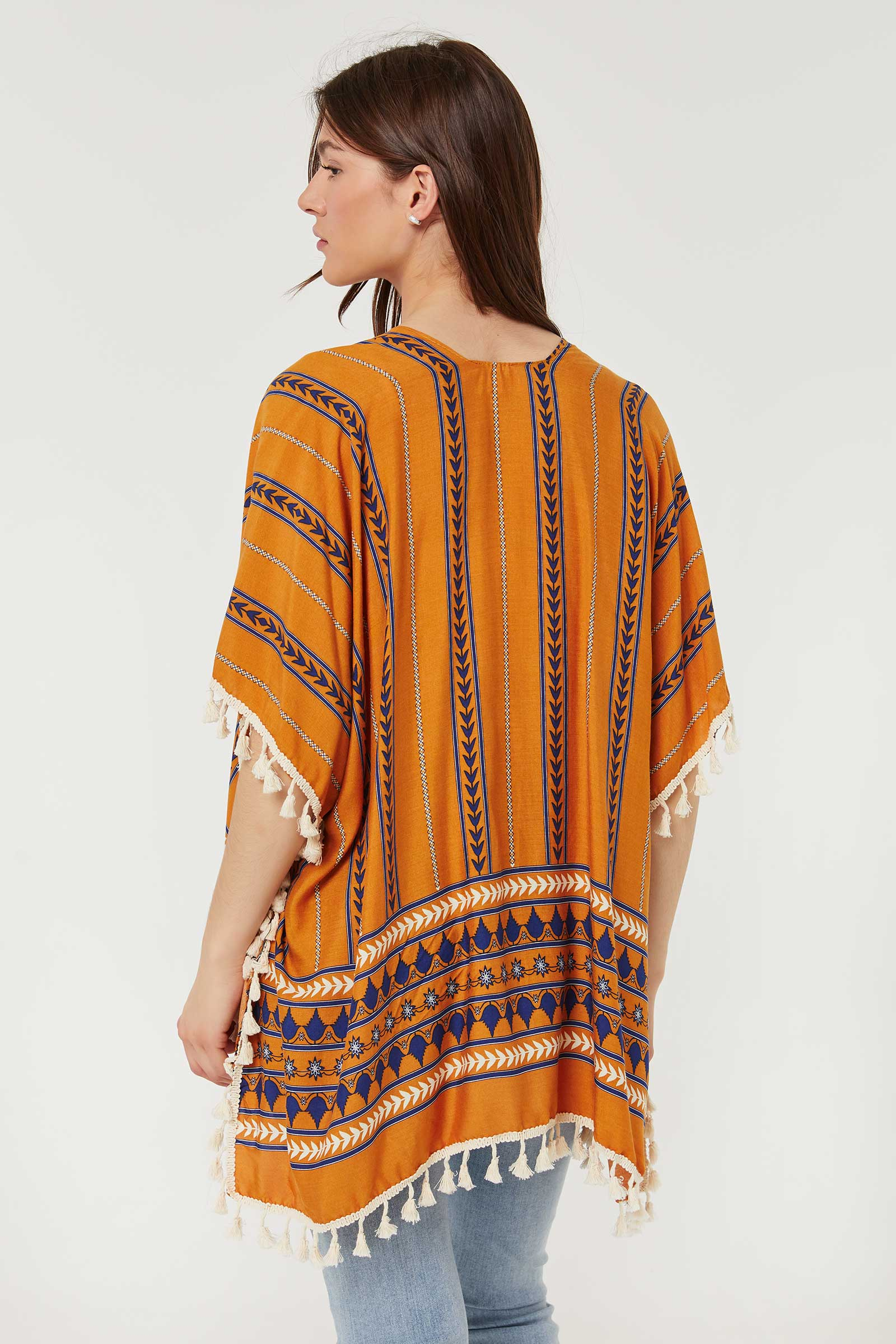 Geometric Print Kimono