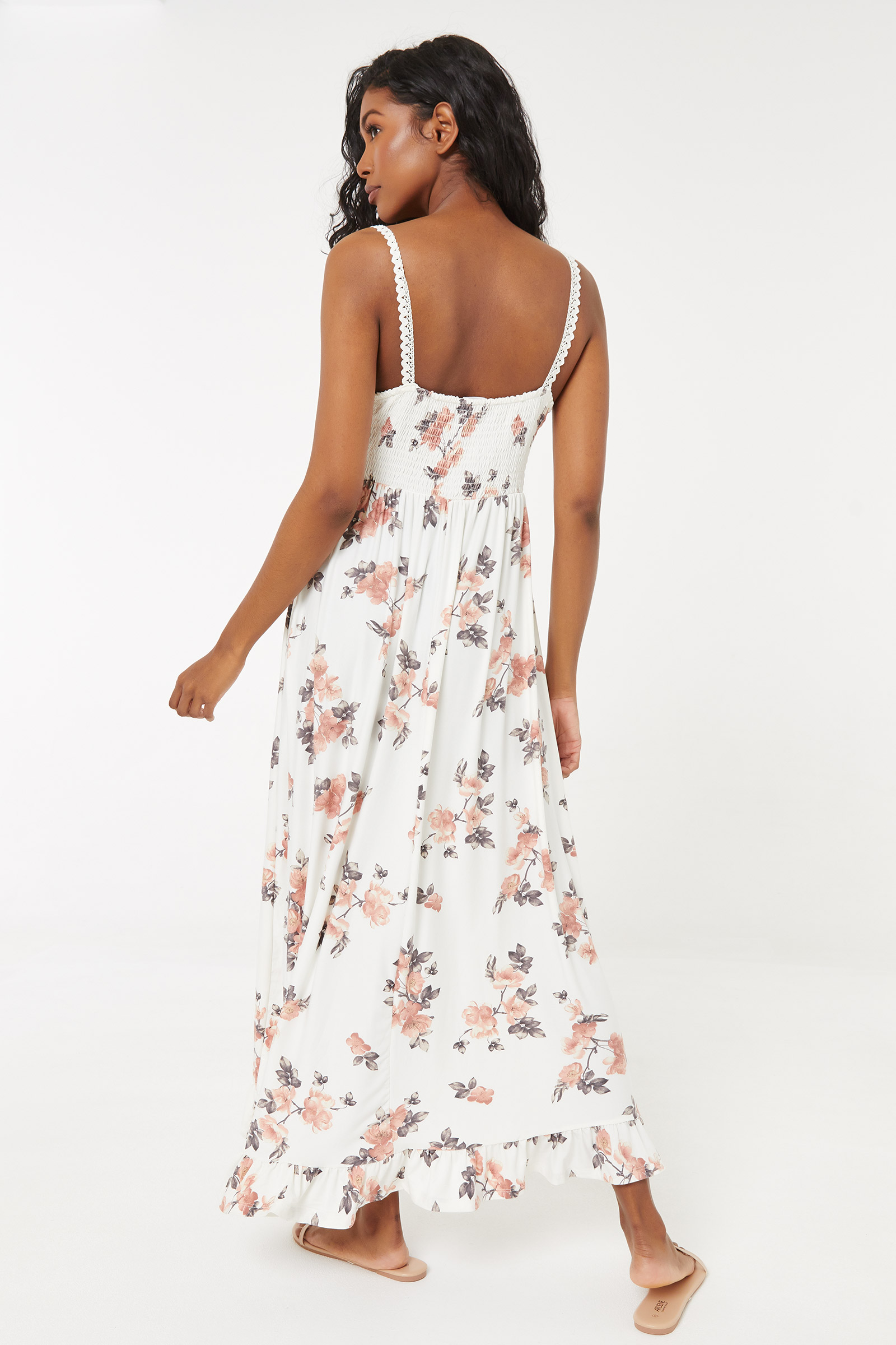 Maxi Floral Dress with Lace