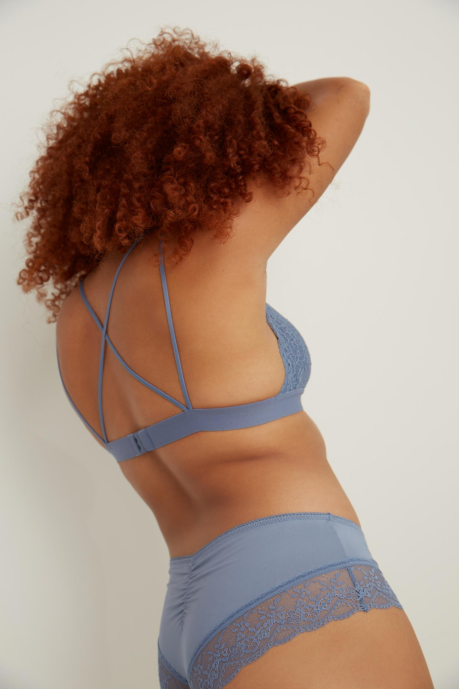 Crossed Strap Lace Bralette