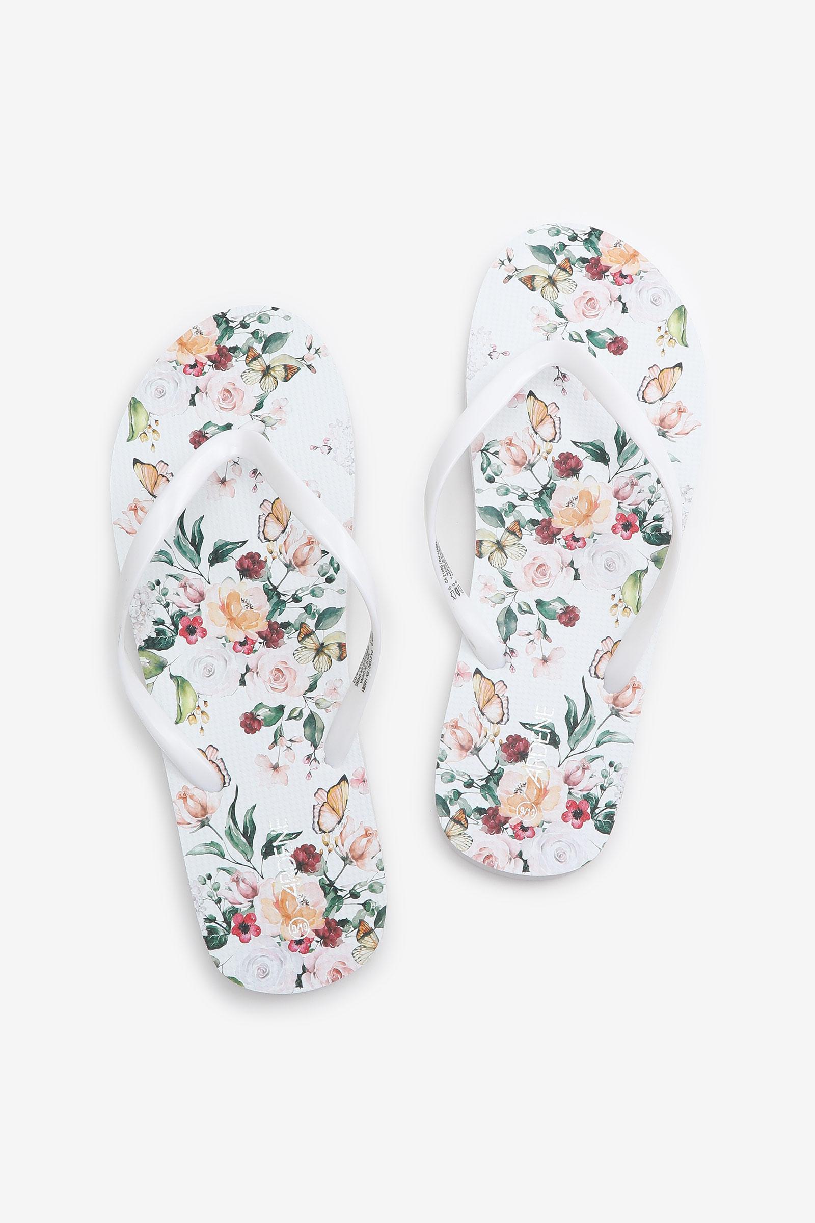 Flip-flops fleuries en mousse