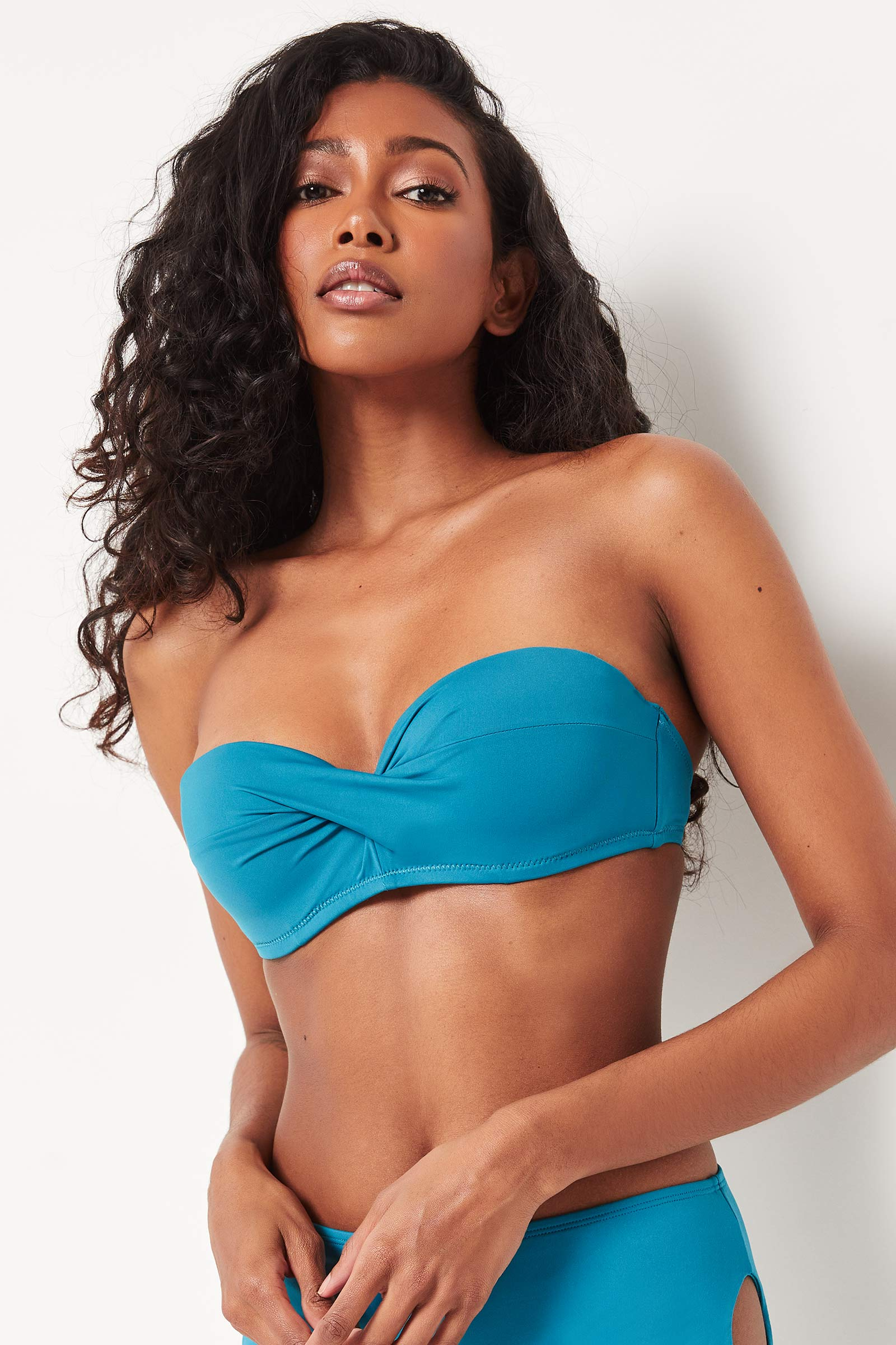 Twisted Bandeau Bikini Top