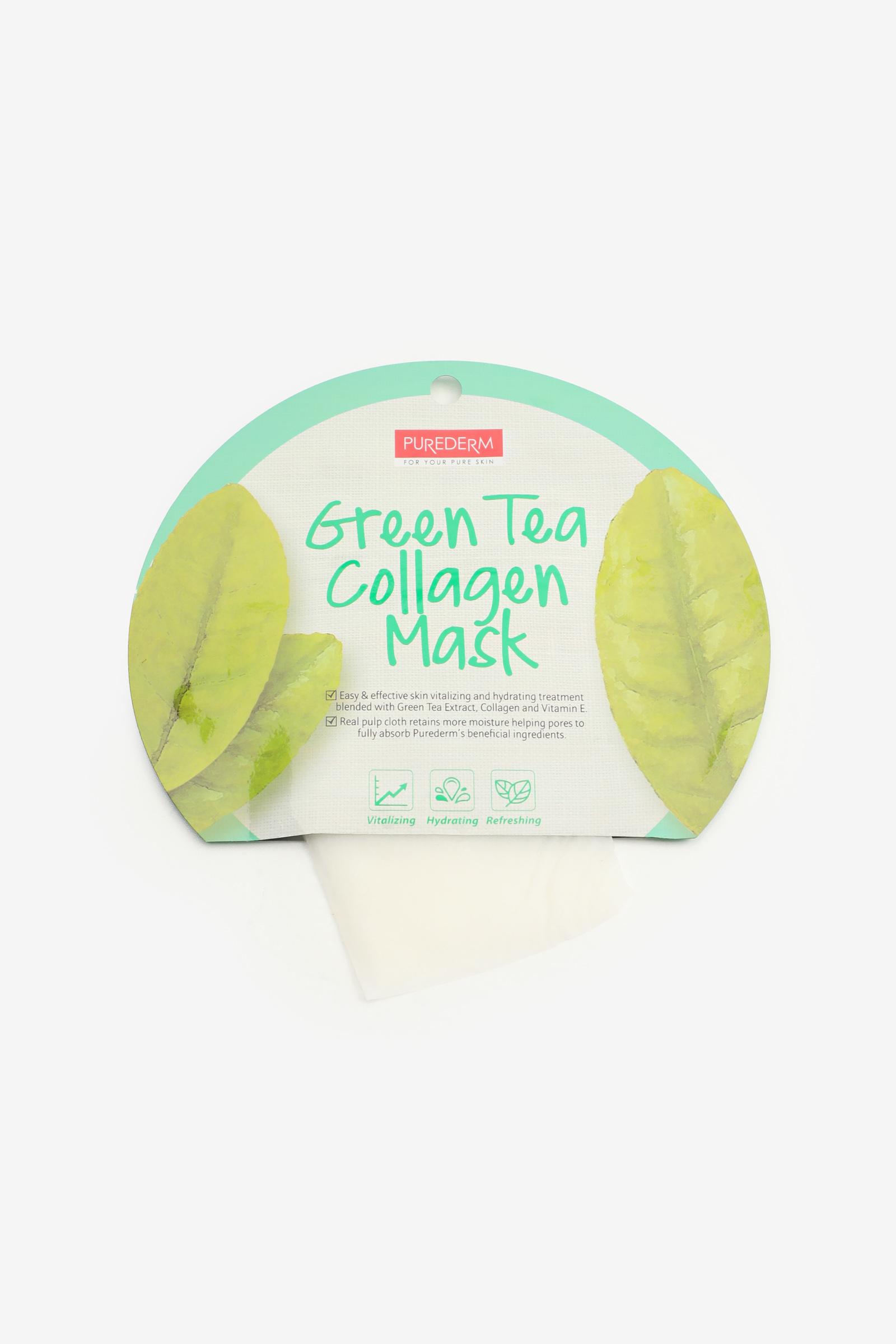 Masque de visage au thé vert et collagène