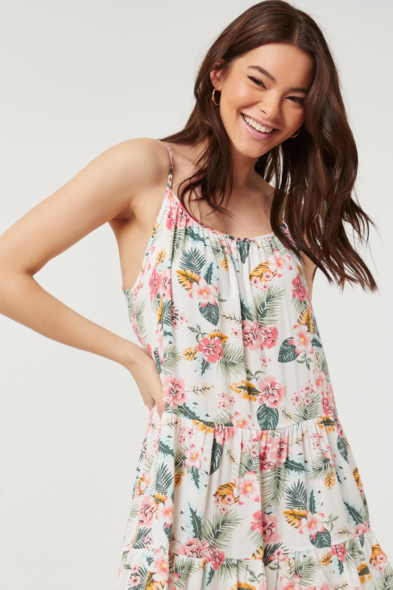 Floral Tiered Cami Mini Dress