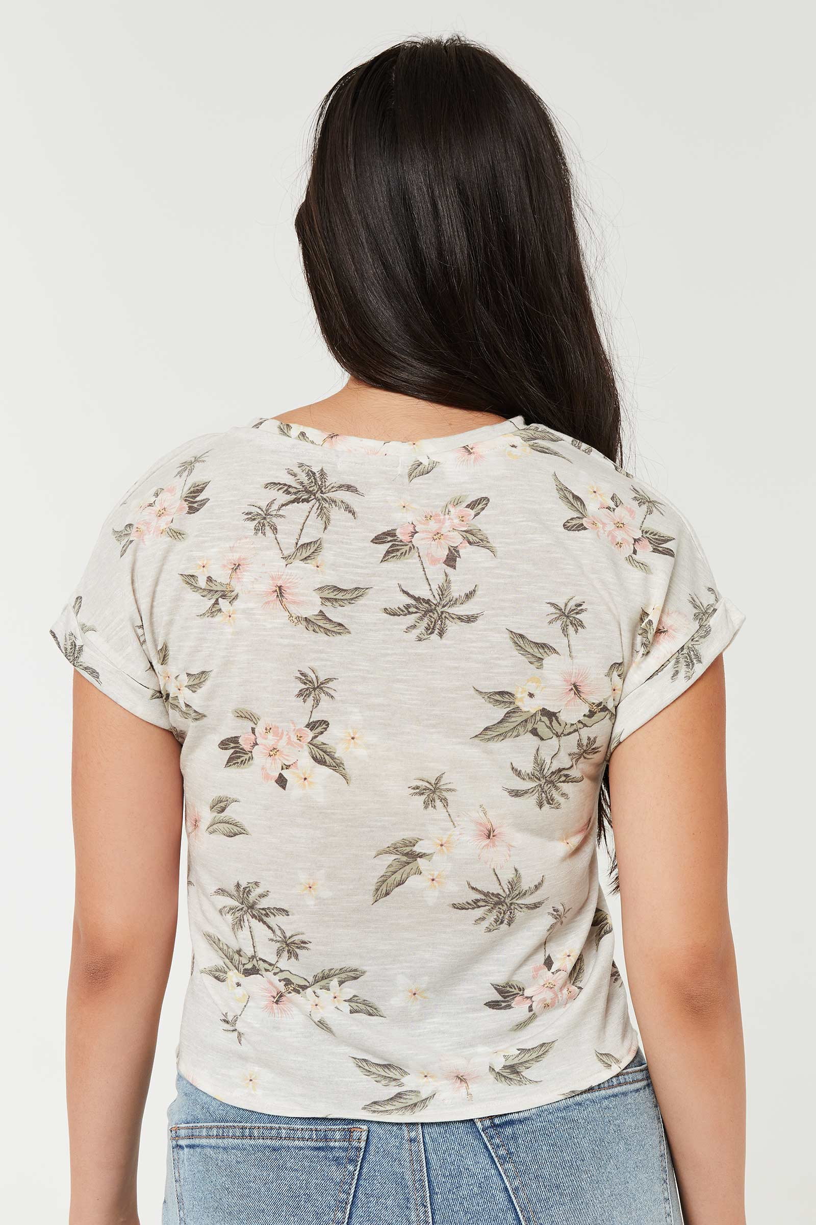 Hibiscus Dolman Top with Front Knot