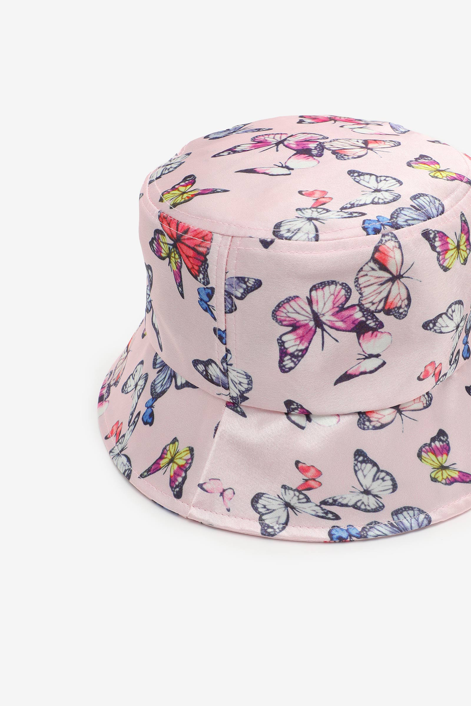 Chapeau de pêche satiné à papillons