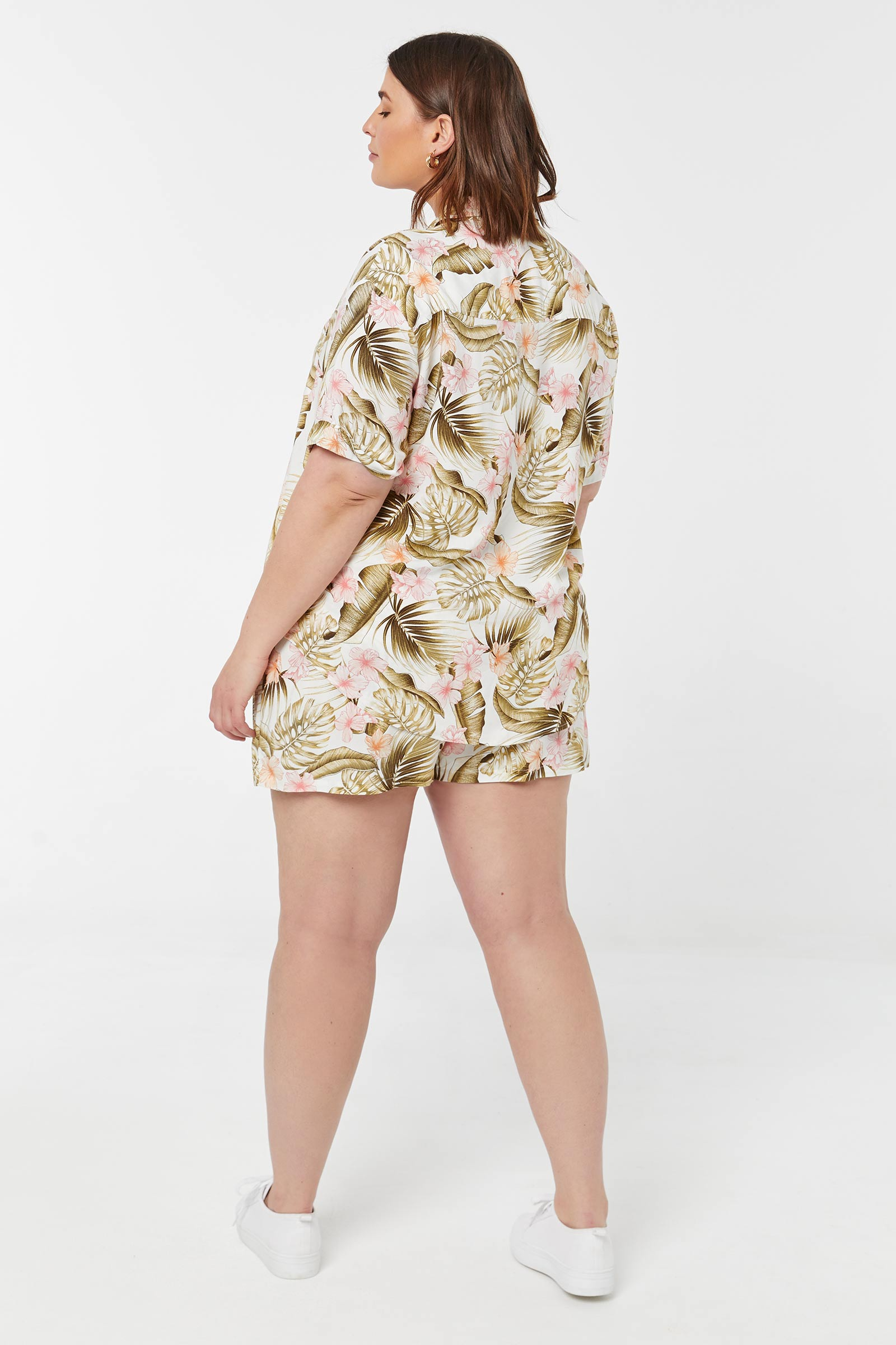 Chemise tropicale Taille Plus