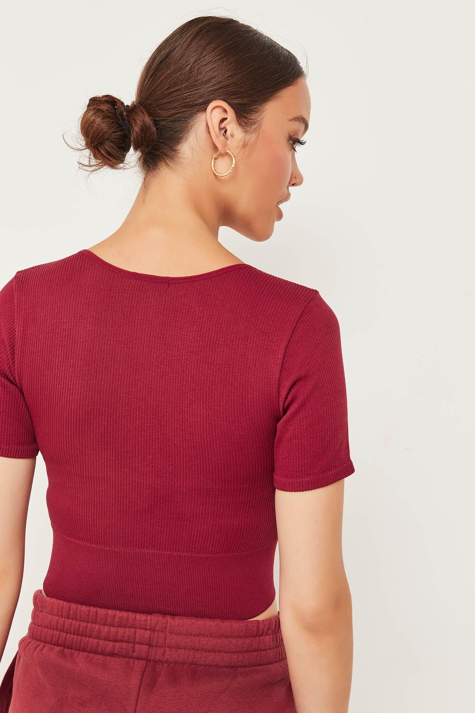 T-shirt ultracourt sans coutures