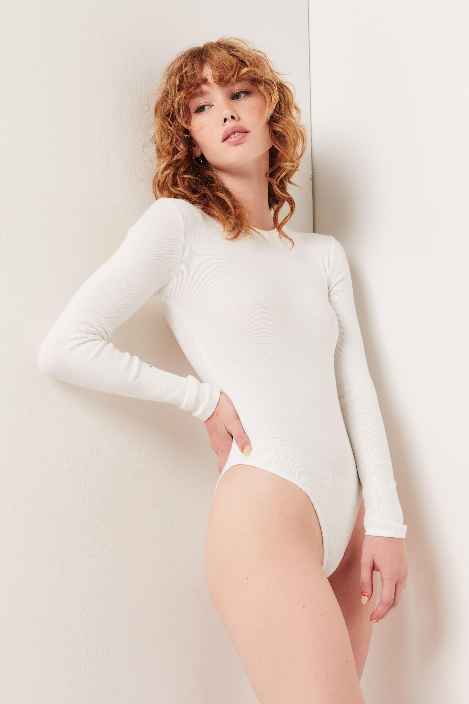 Long Sleeve Ribbed Bodysuit