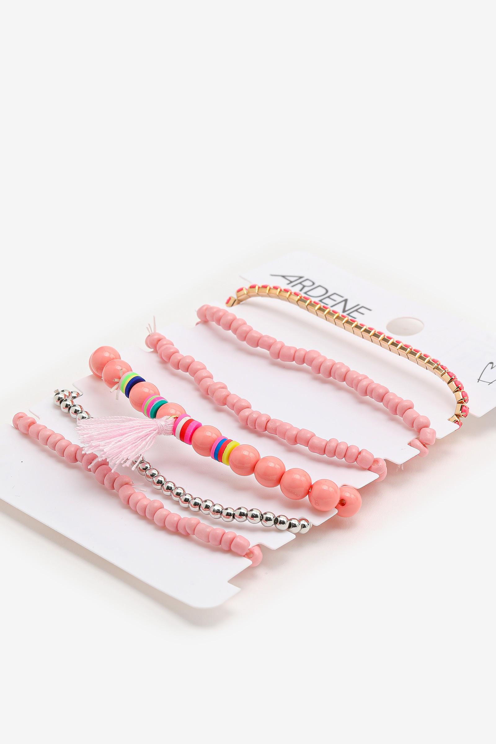 6-Pack of Bead and Tassel Bracelet