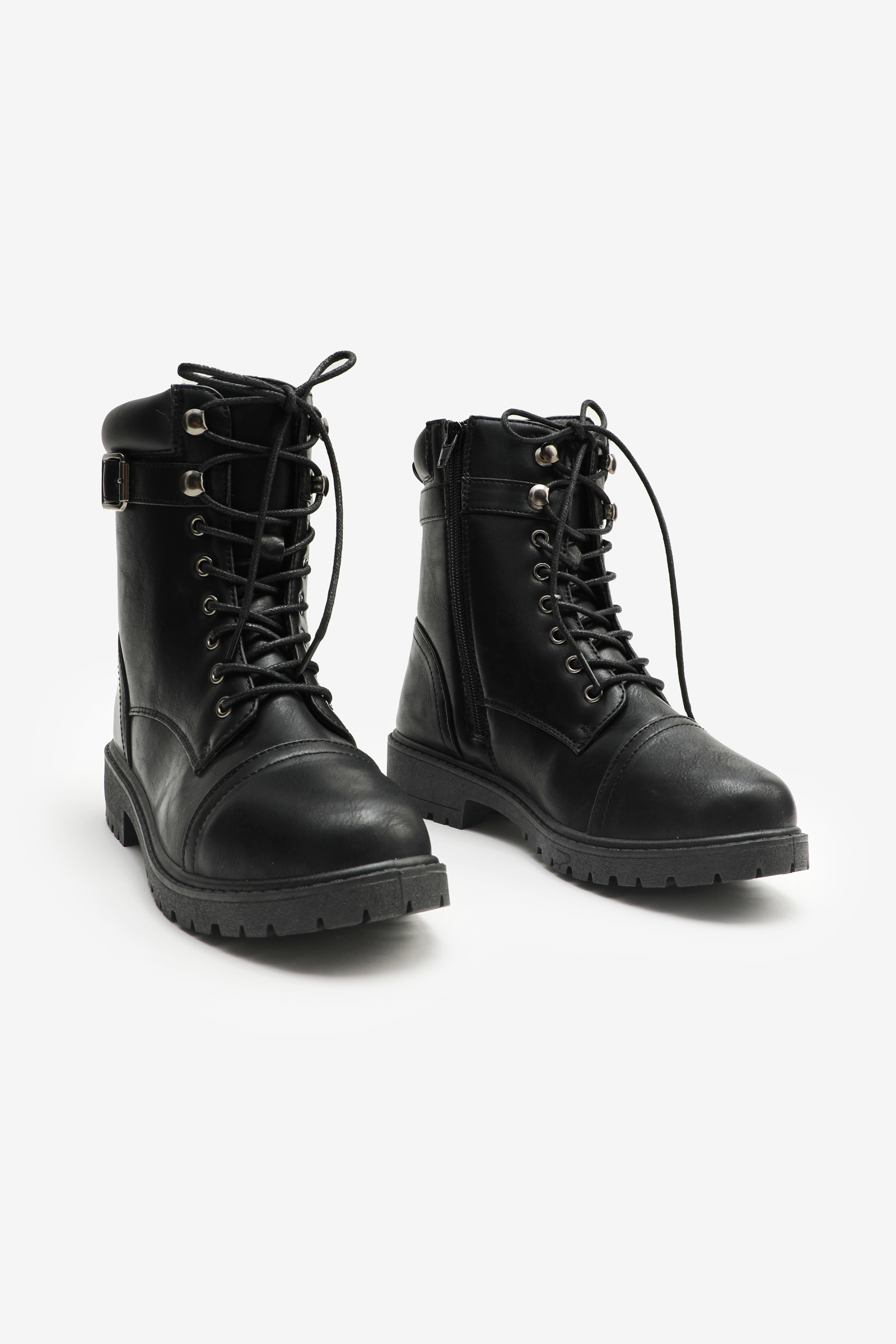 Mid Faux Leather Boots
