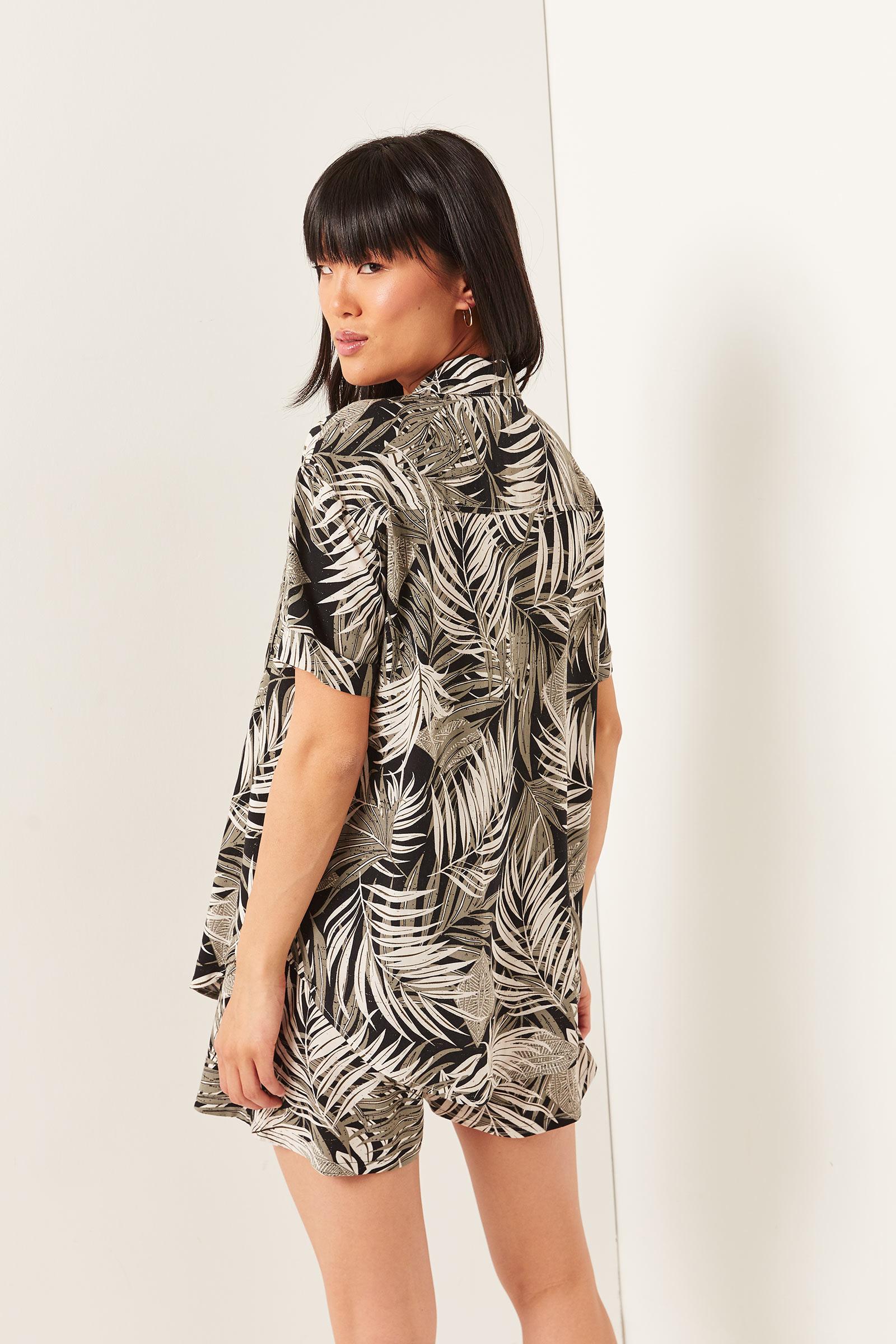 Chemise boutonnée à palmiers
