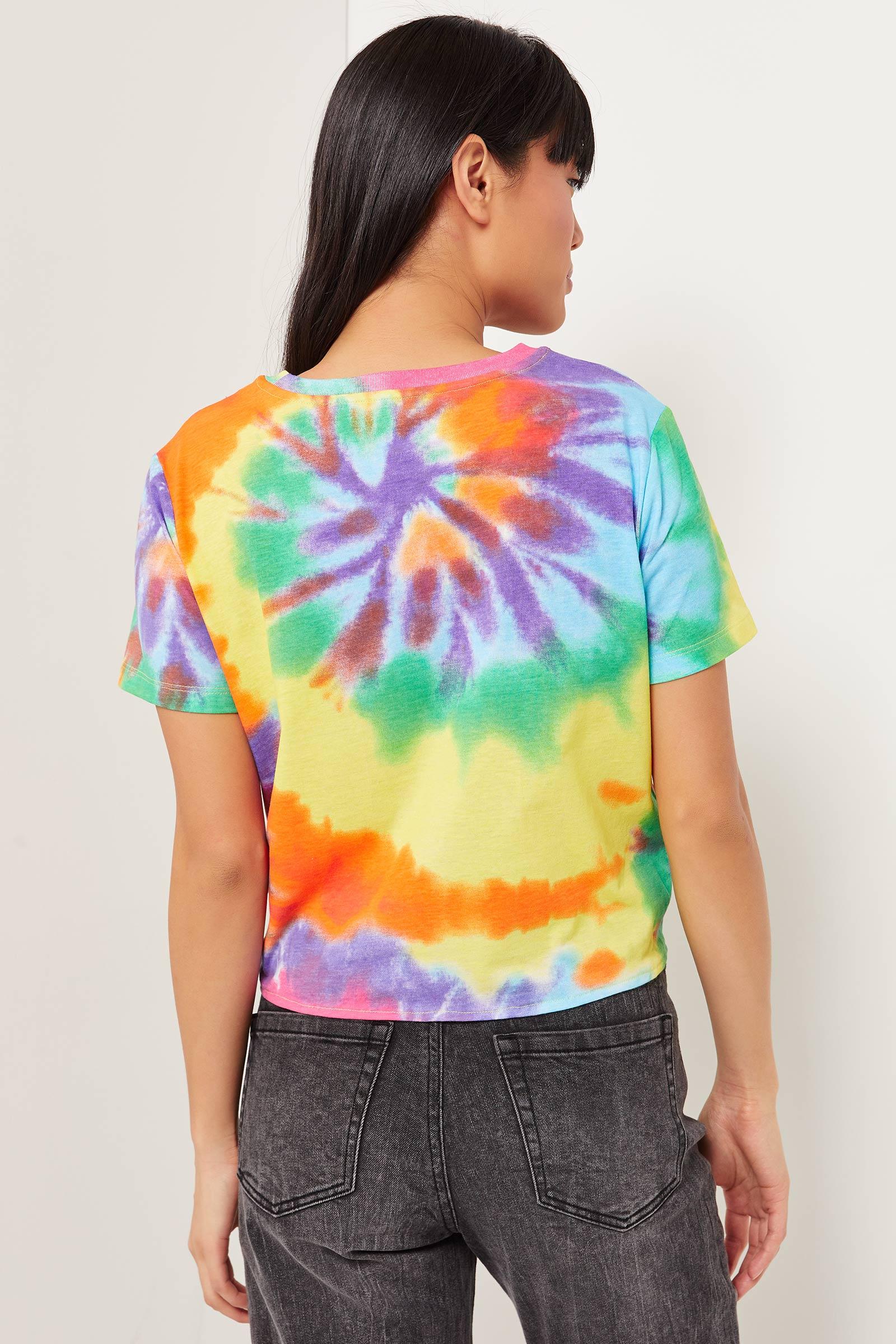 T-shirt tie-dye noué Lisa Simpson