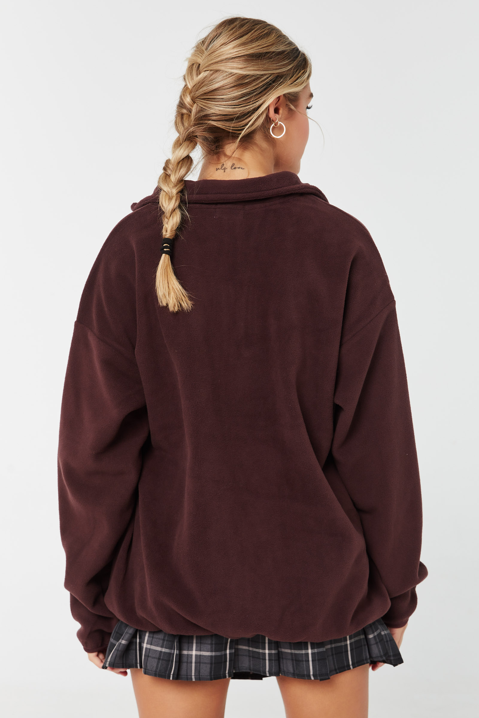 Half-Zip Boyfriend Sweatshirt