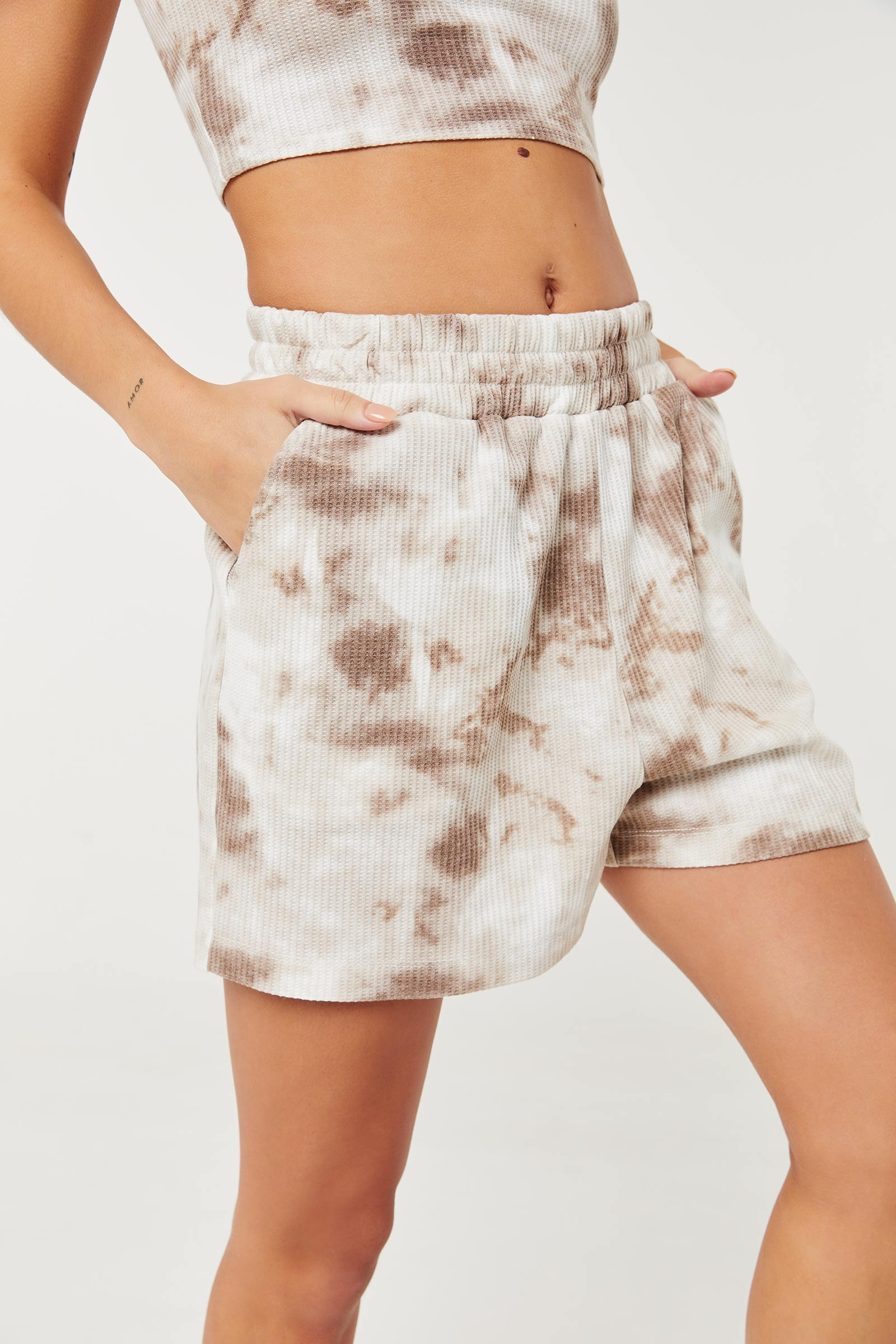 Eco-Conscious Waffle Shorts