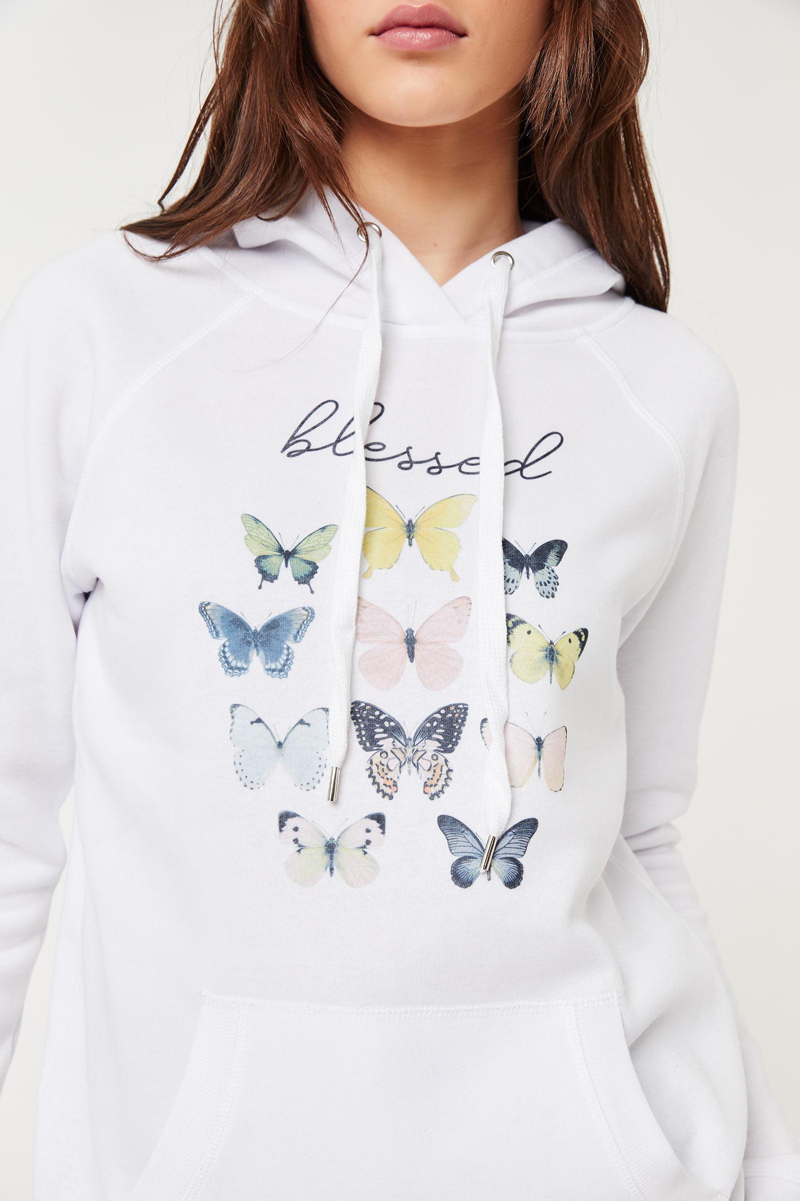 Molleton capuchon à papillon