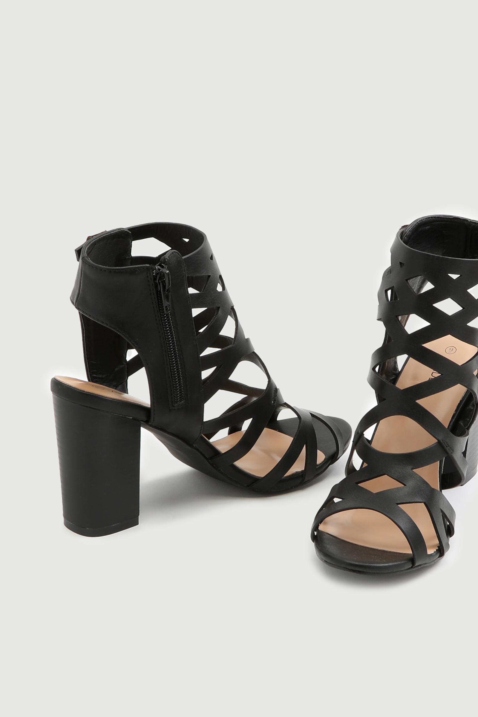Block Heel Gladiator Sandals