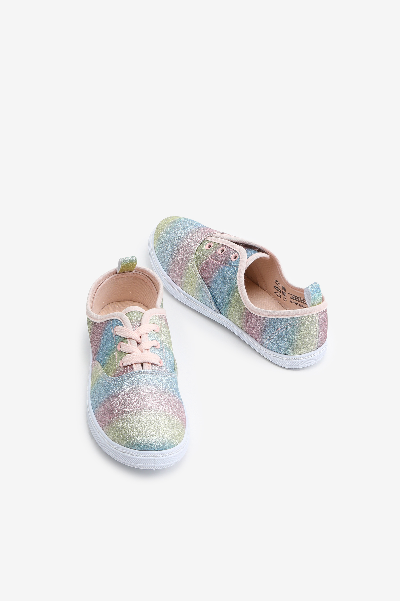 Glitter Laced Sneakers for Girls