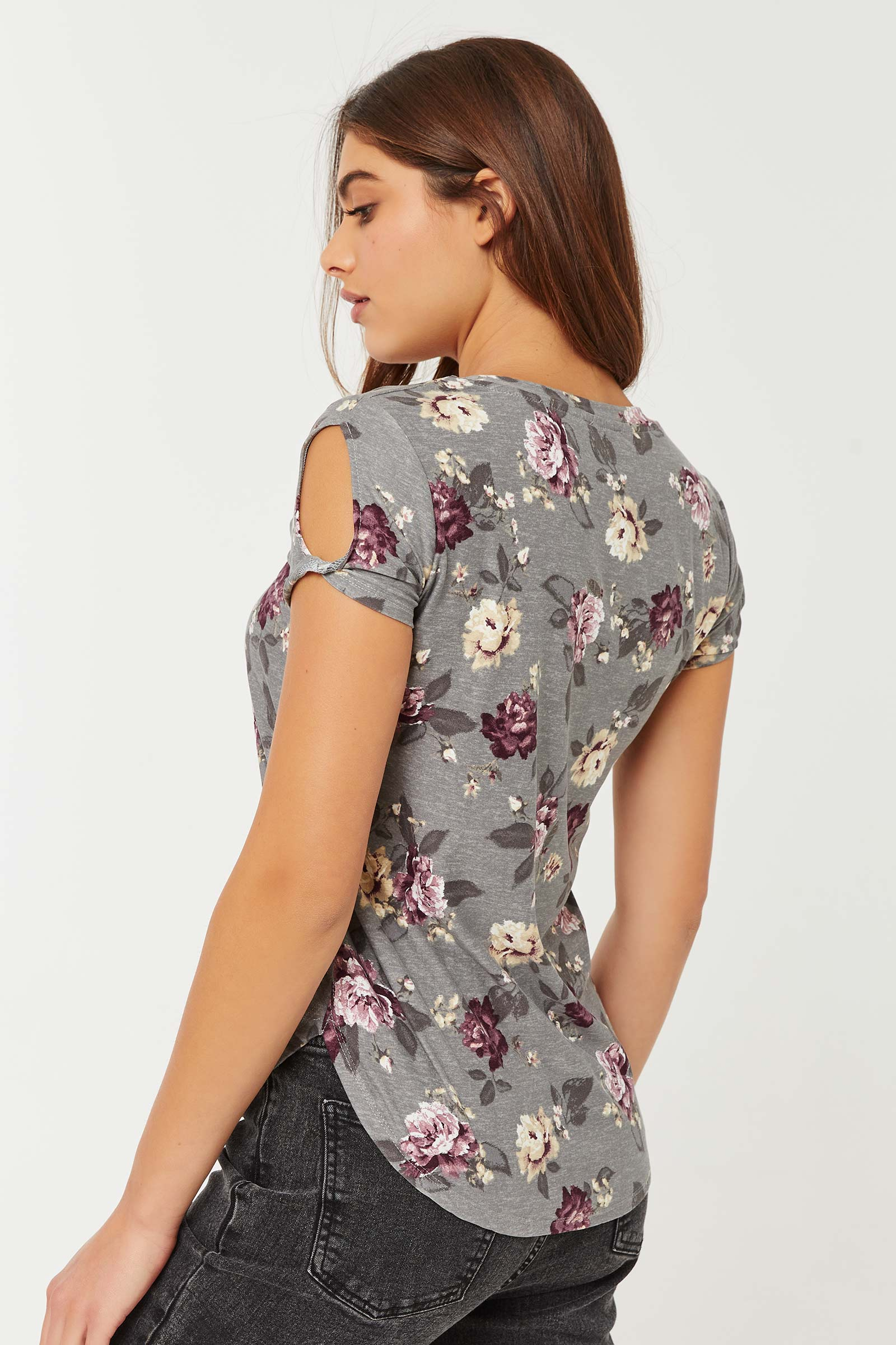Floral Super Soft Tunic Tee