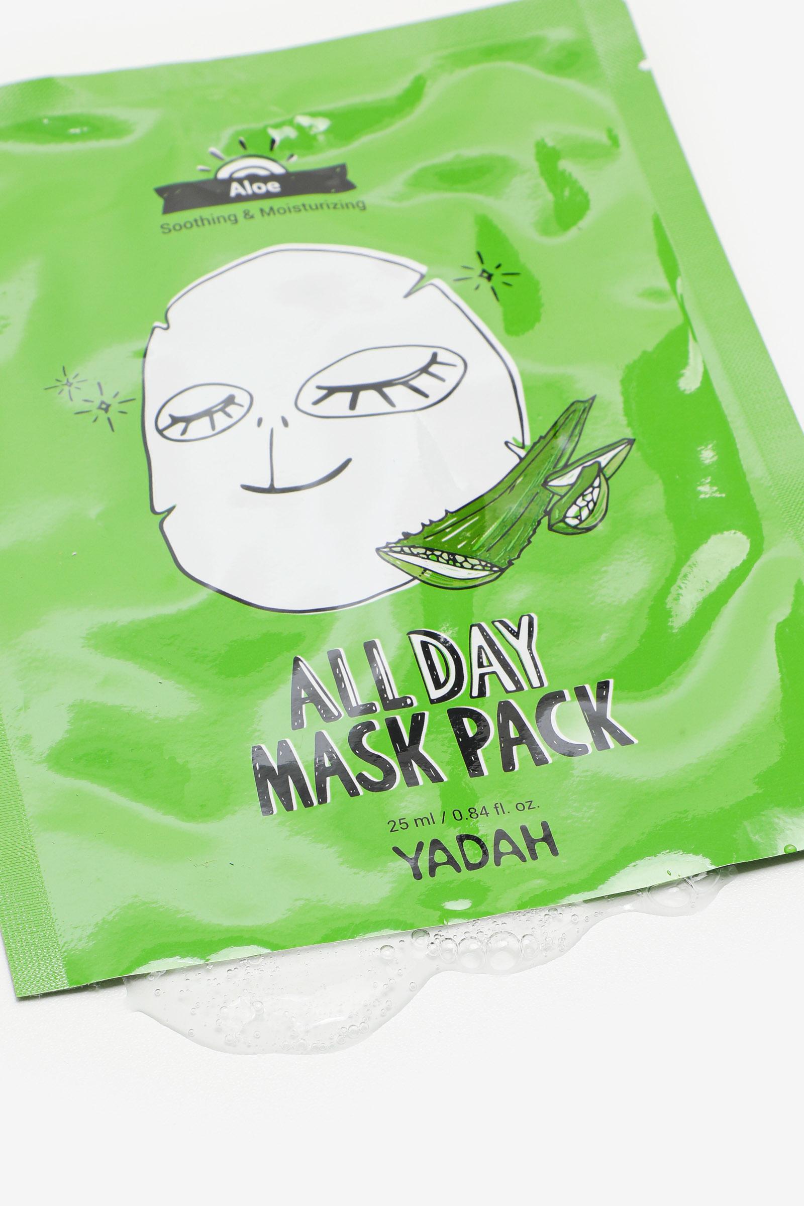 Masque pour le visage à l'aloès