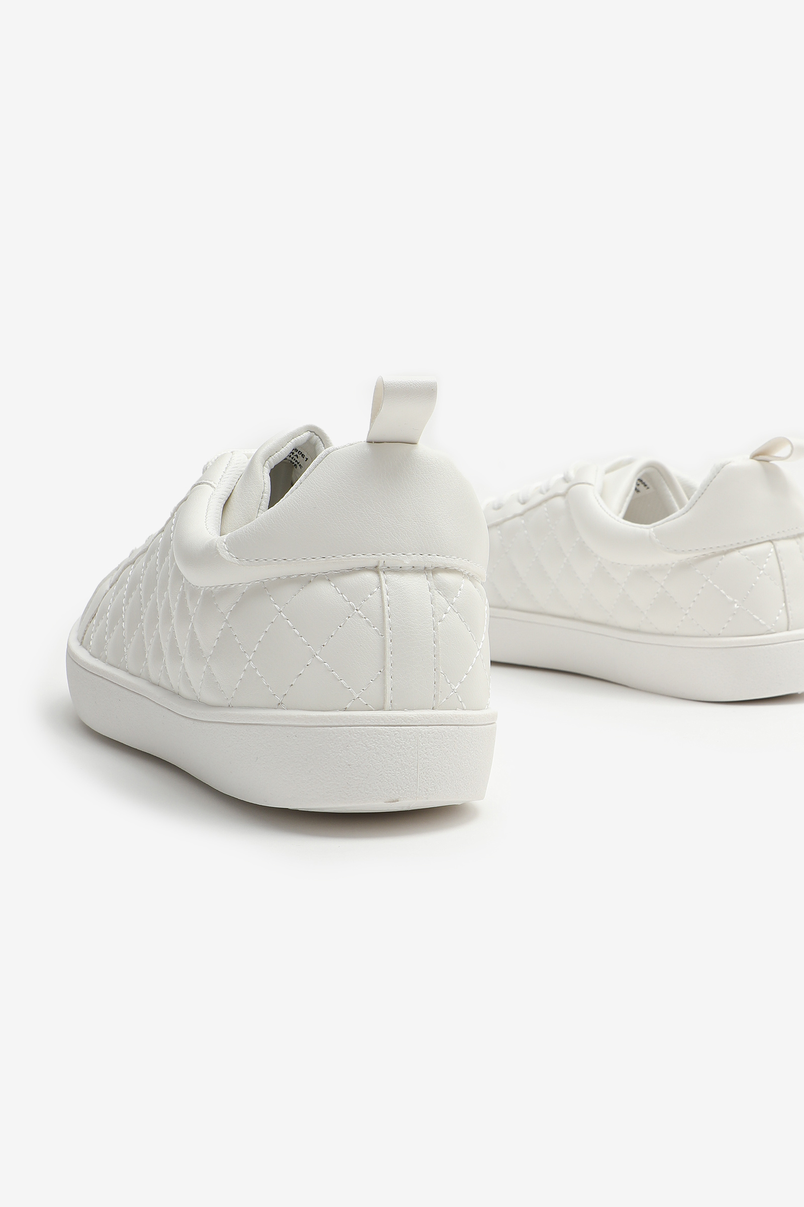 Quilted Faux Leather Sneakers