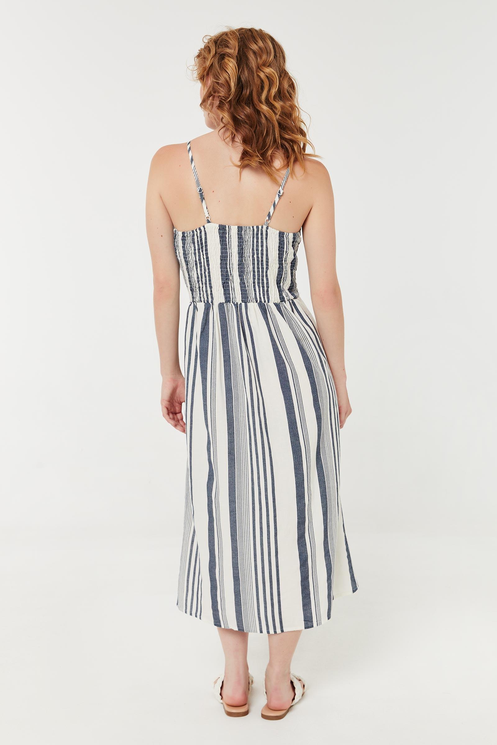 Front Tie Button Down Dress