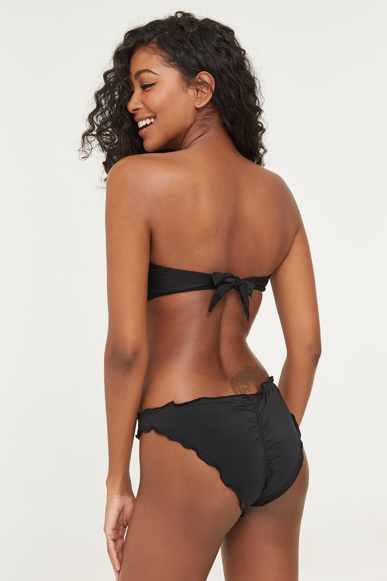 Scalloped Cheeky Bikini Bottom