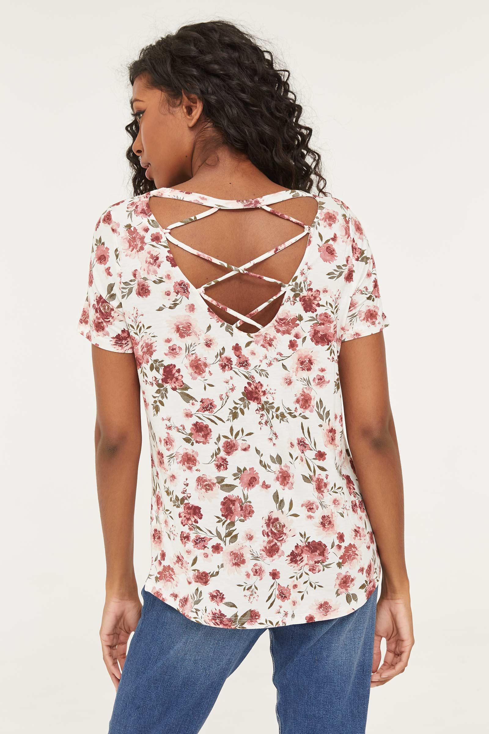 T-shirt avec dos à courroies croisées