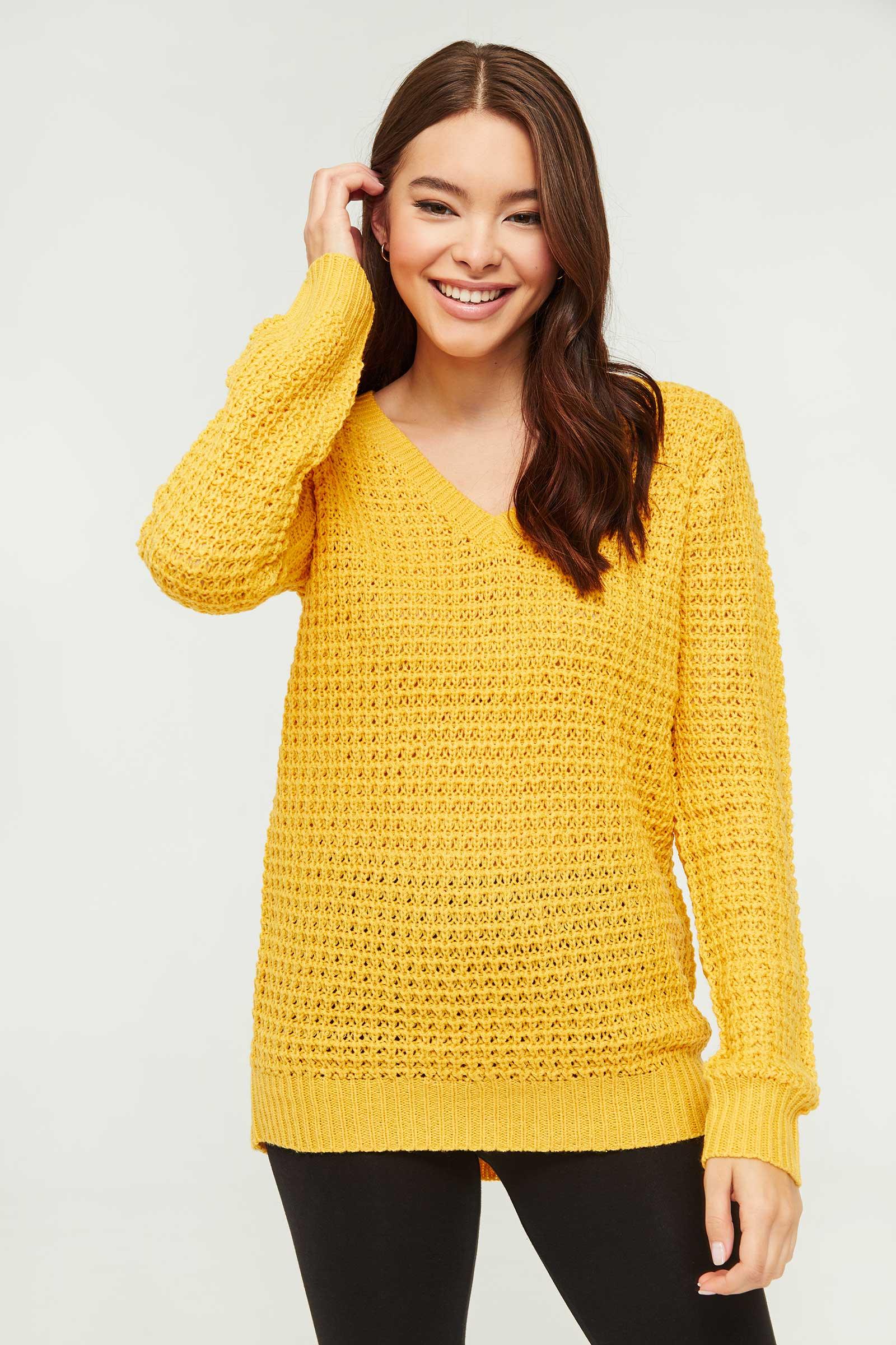 Chandail en tricot à col en V