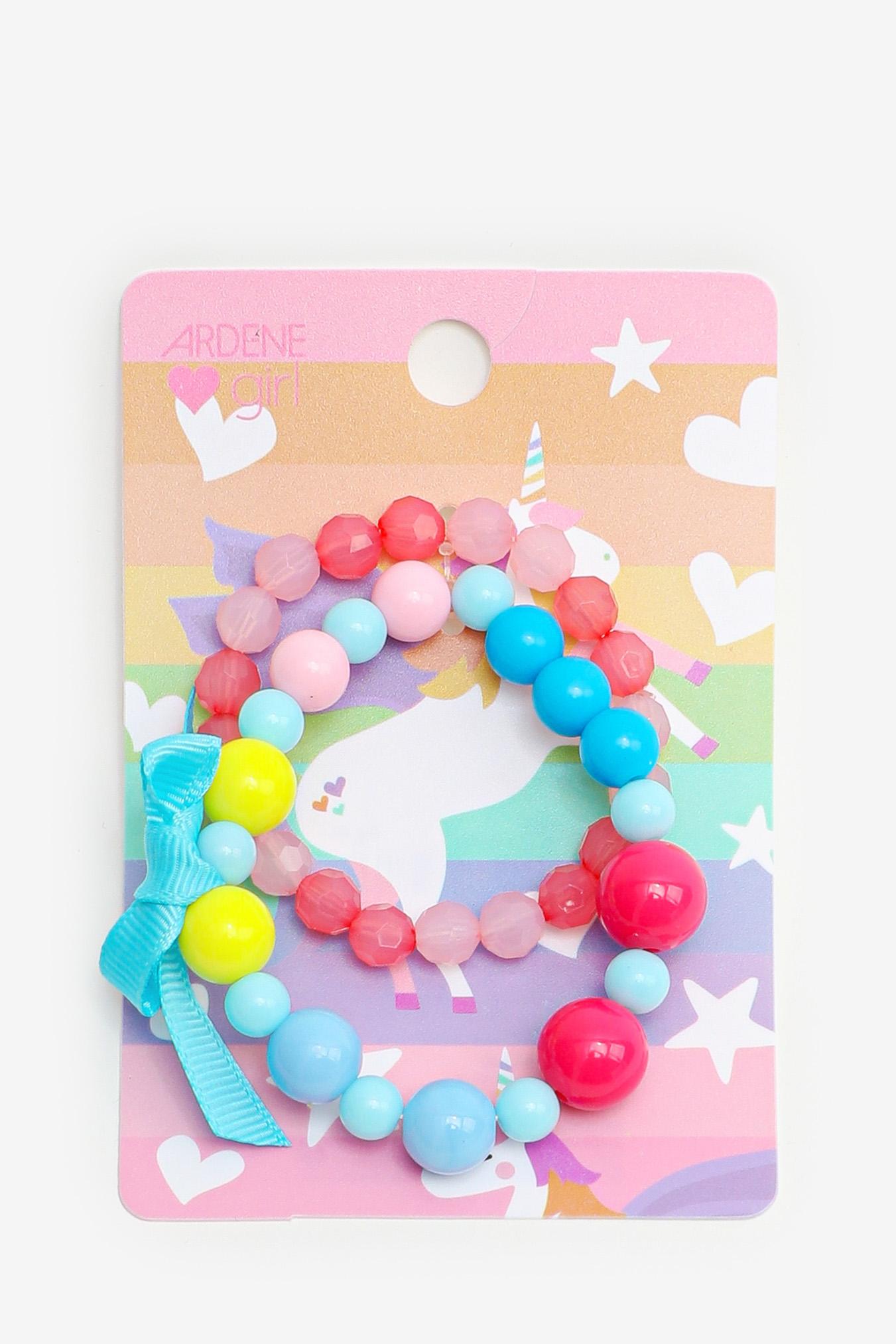 2-Pack Beaded Bracelets for Girls