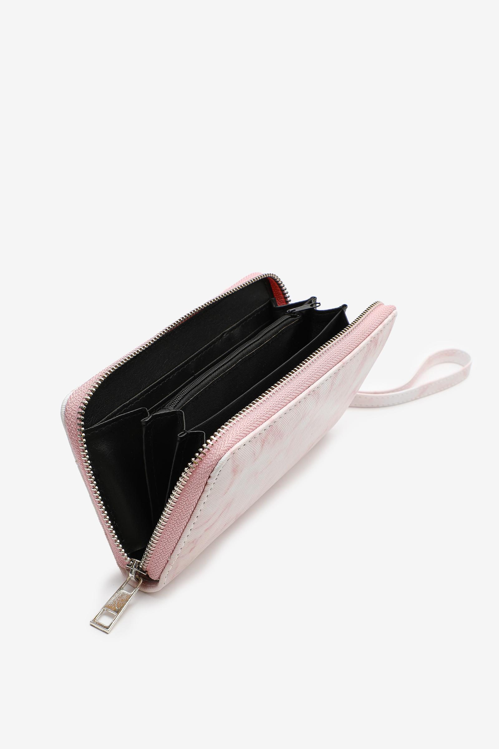 Portefeuille accordéon marbre blush