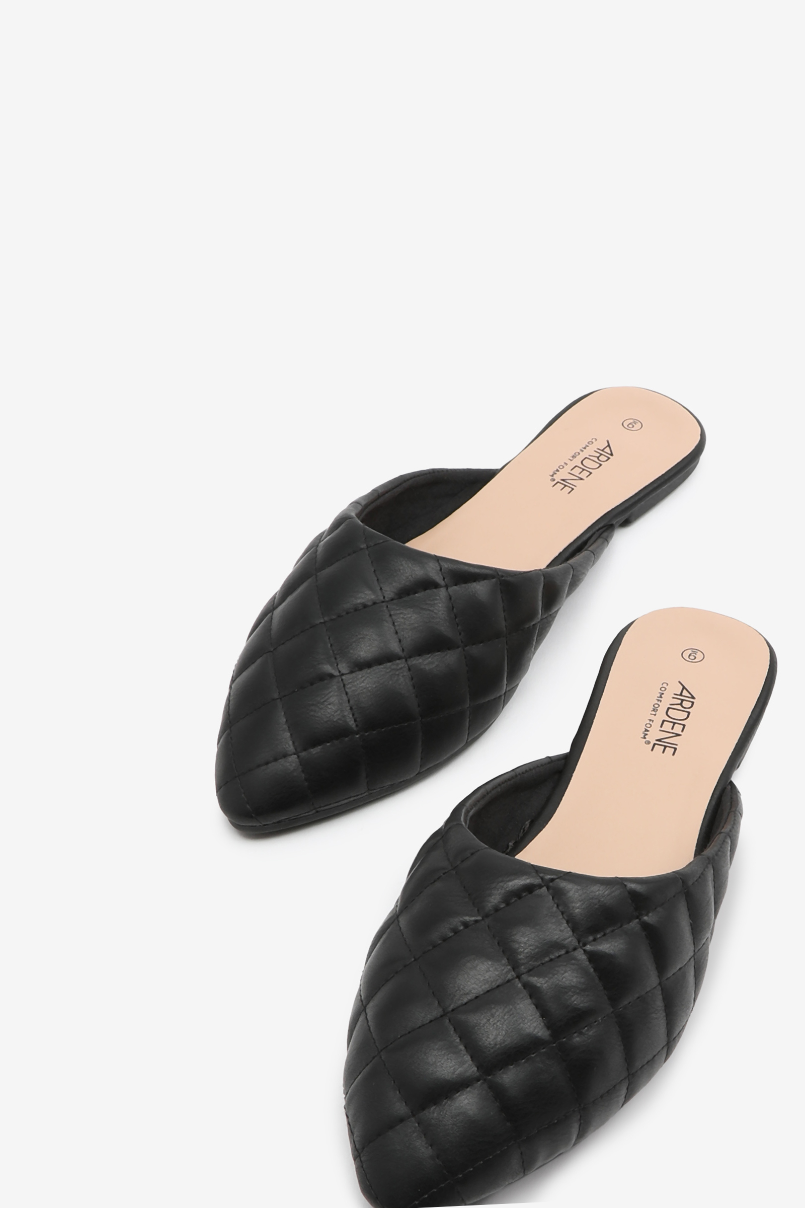Quilted Mule Flats
