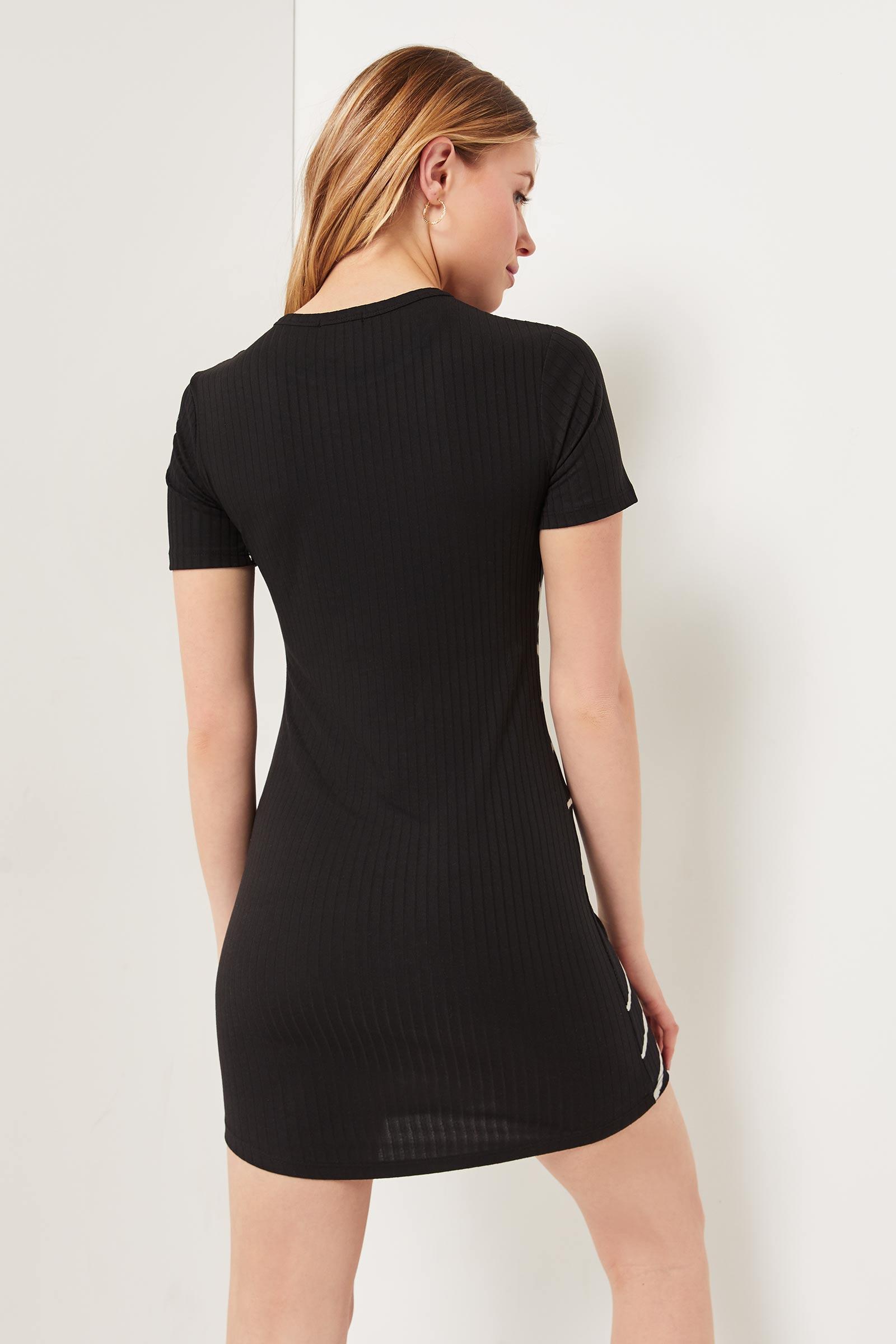 Ribbed Tie-Dye T-shirt Dress