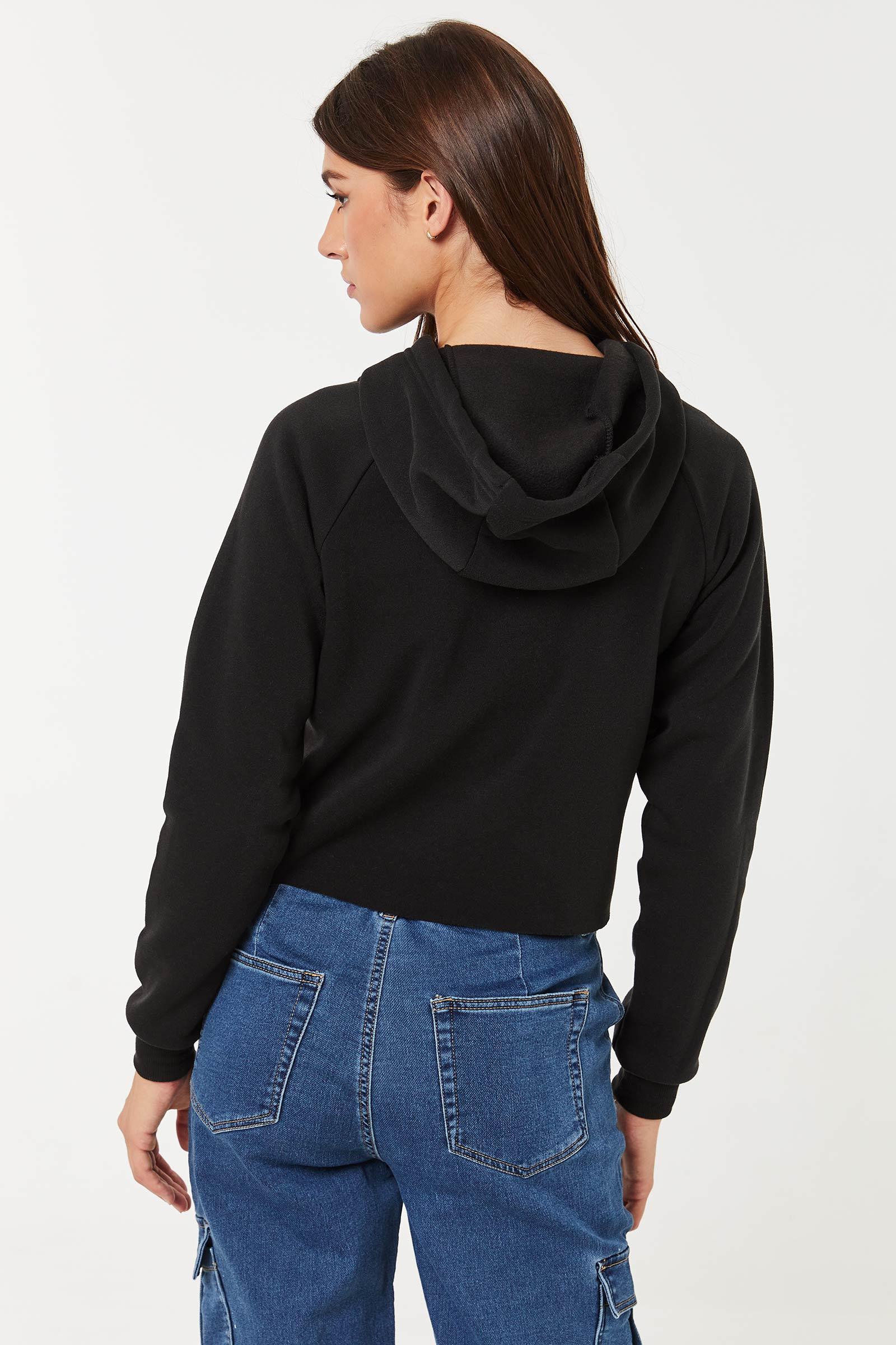 Front-Cutout Fleece Hoodie
